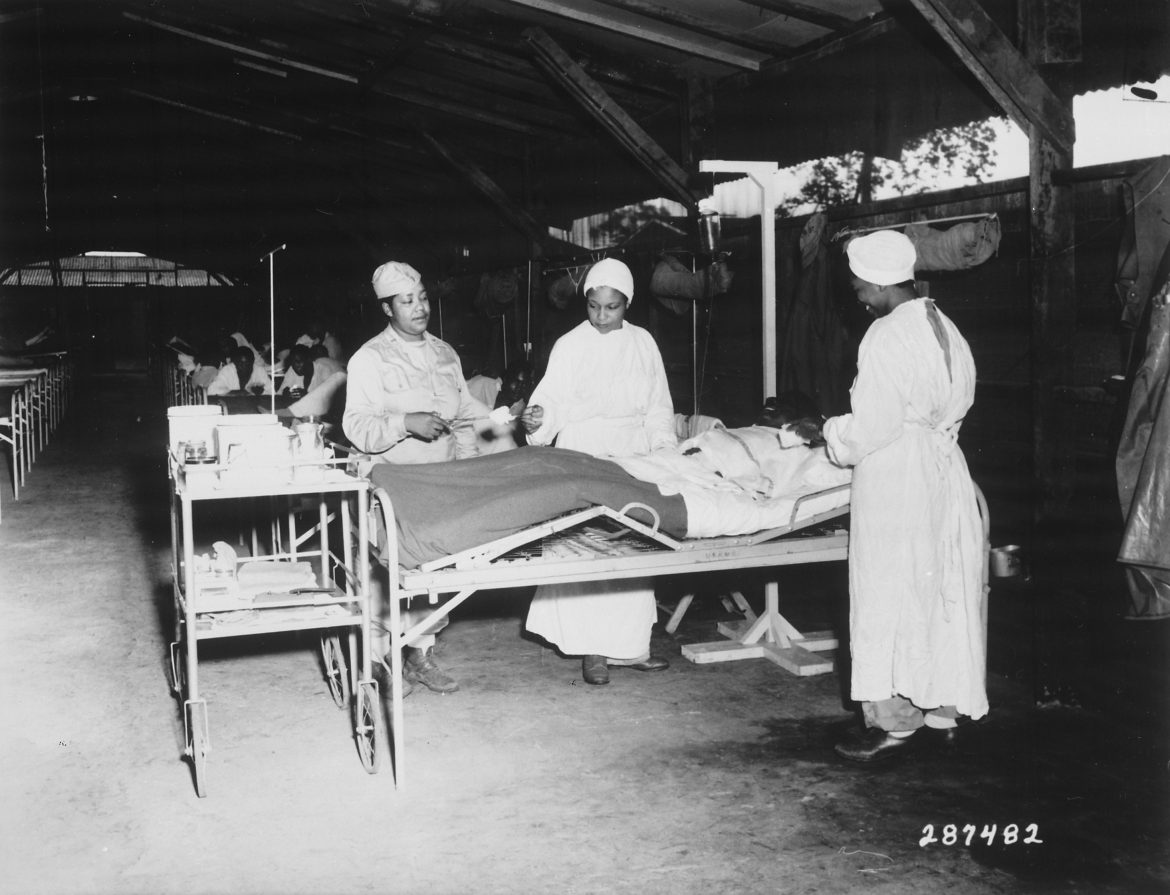 Army Nurses in New Guinea Surgical Ward