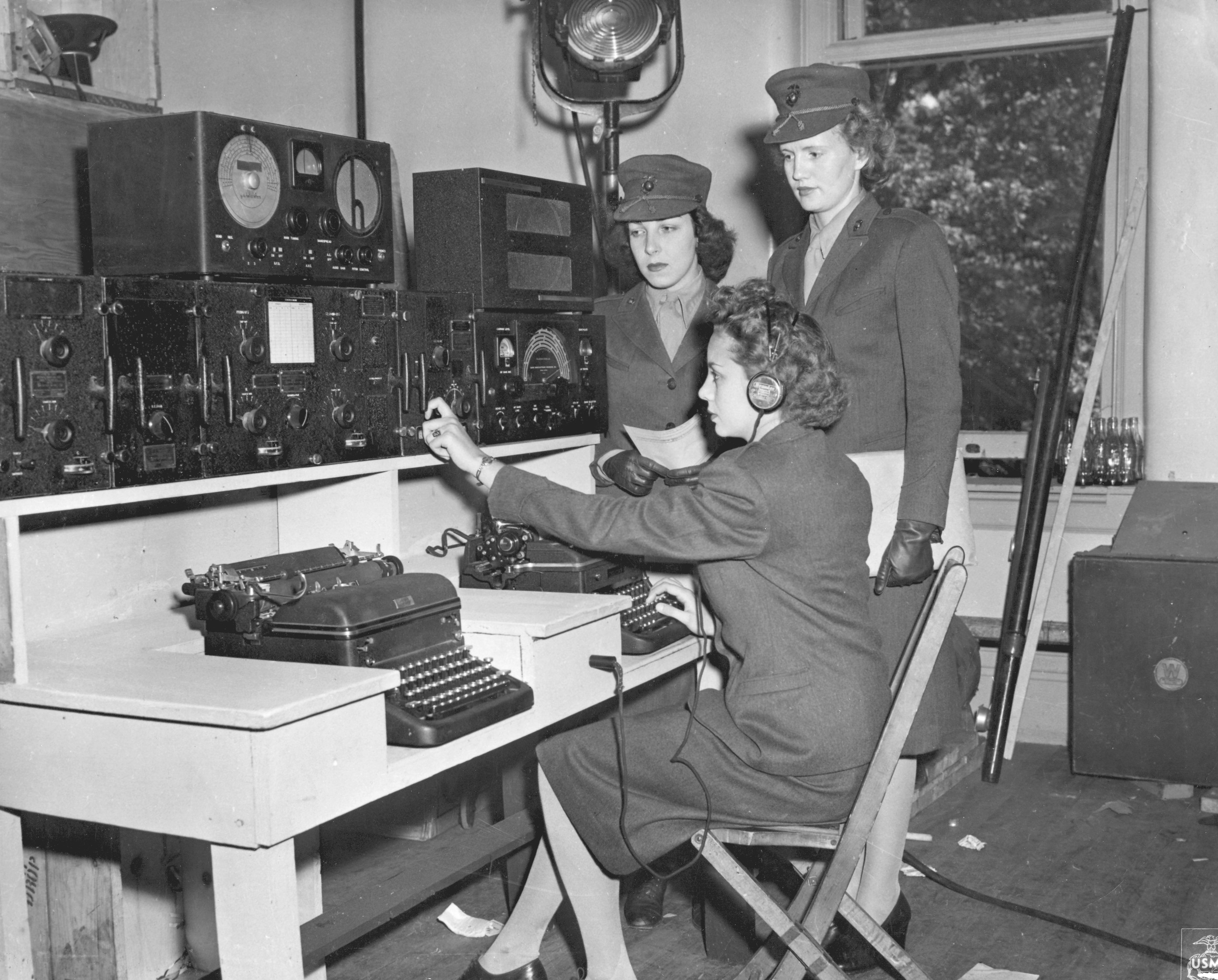 Women Marines in Communications Training Course During WWII