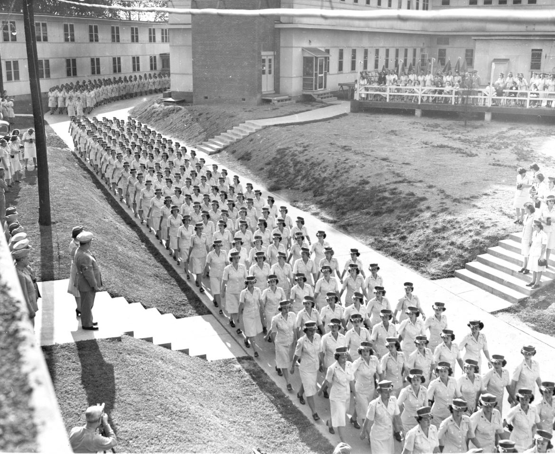 Women Marines on Parade