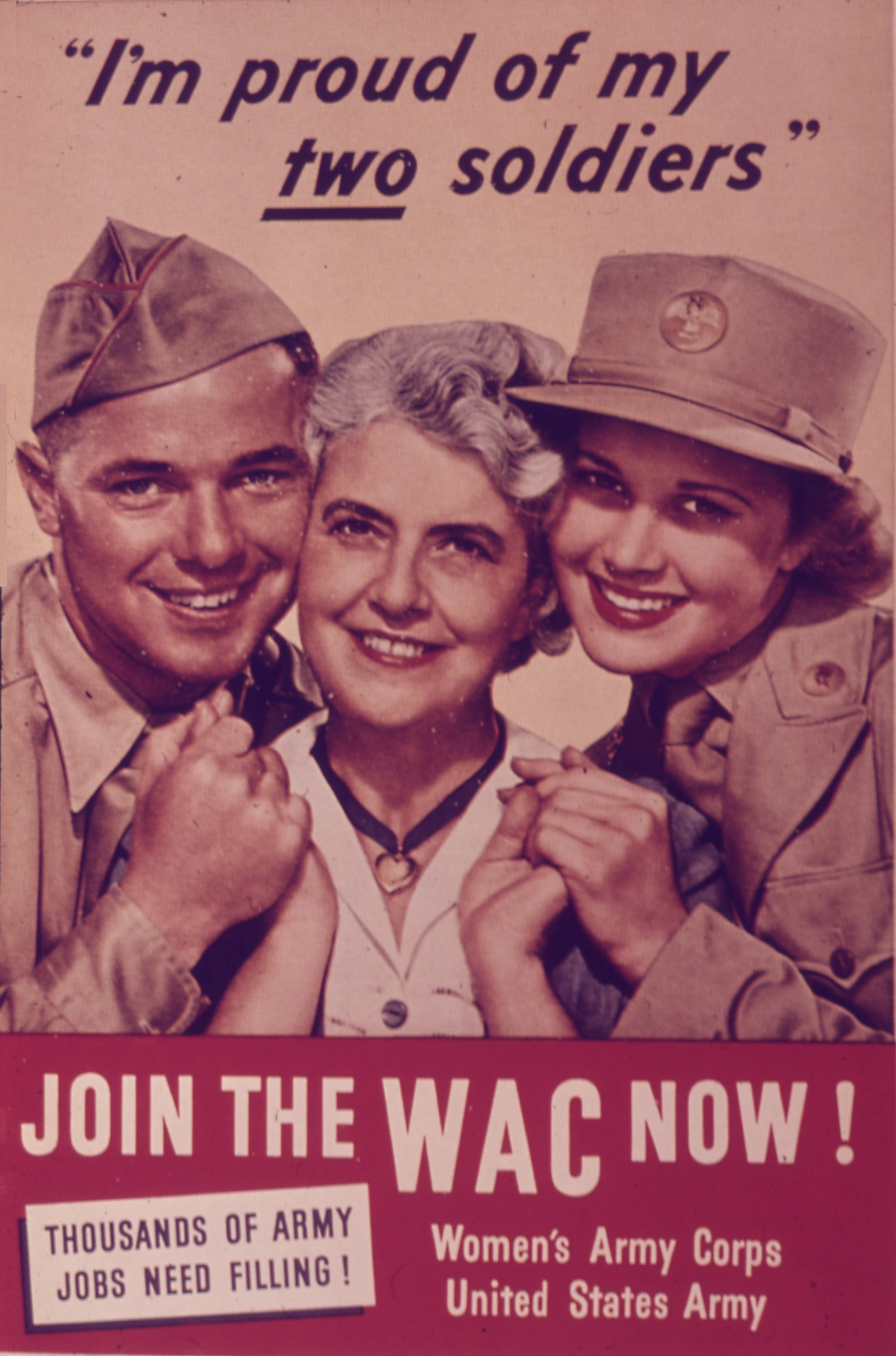 My Two Soldiers WAC WWII Recruiting Posters