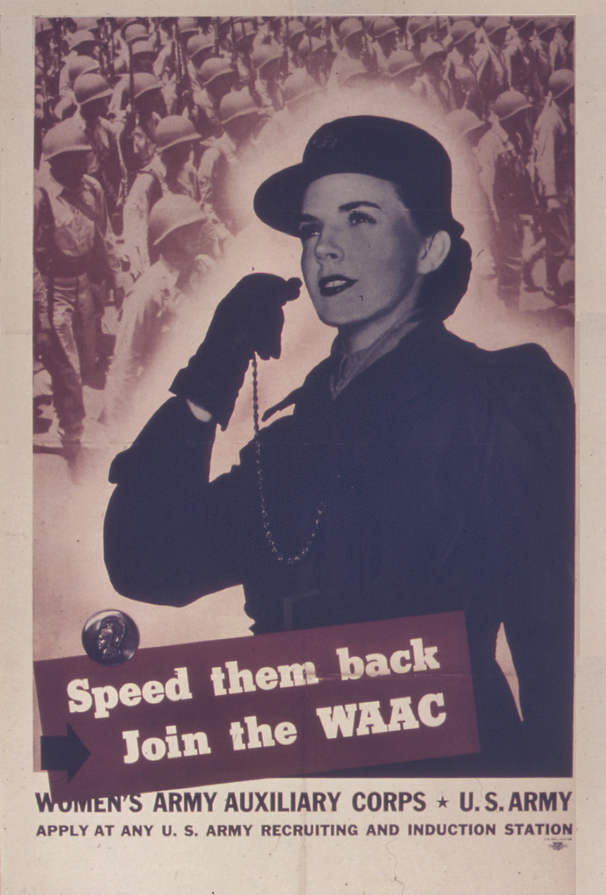 Speed Them Back WAAC Recruiting Poster