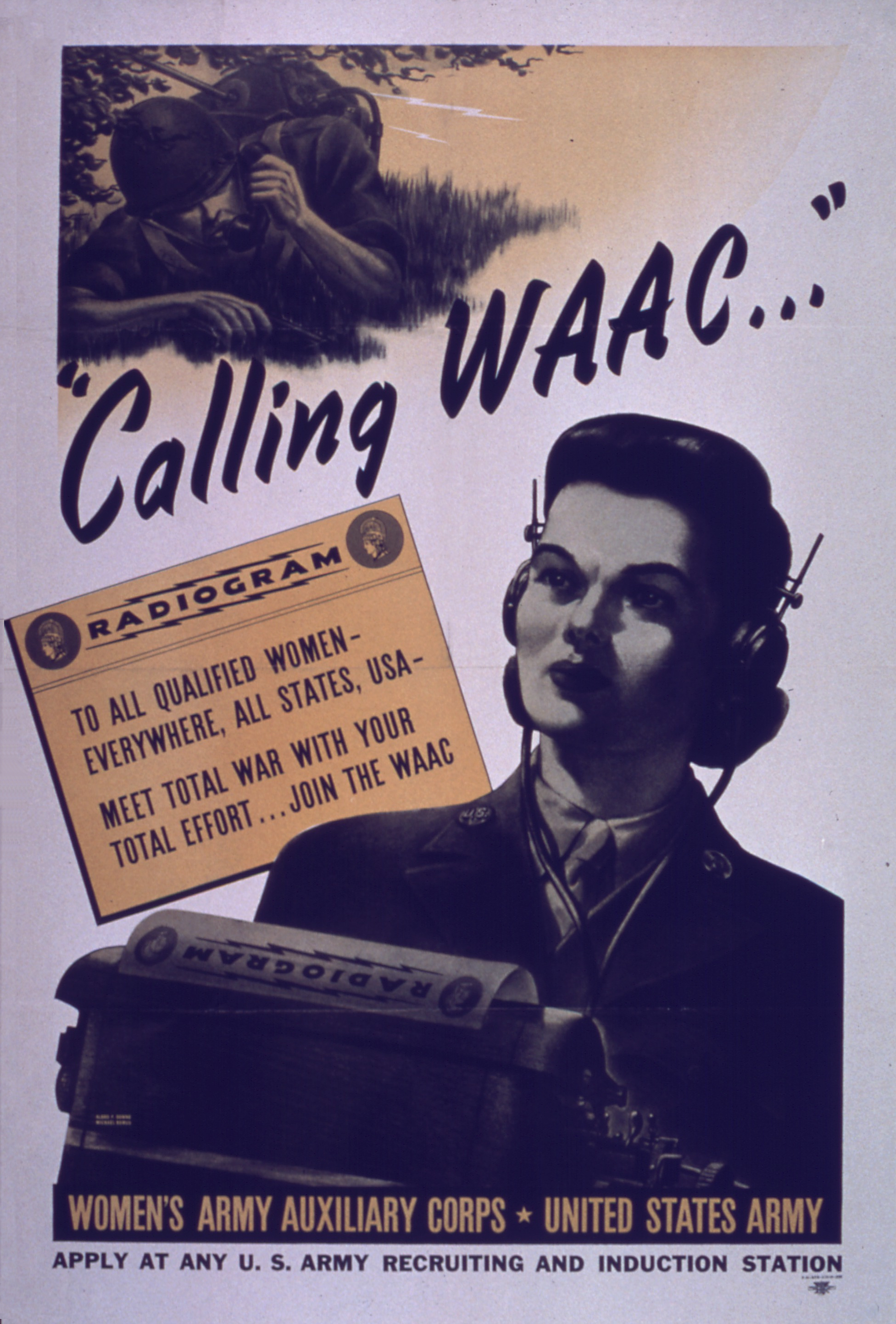 Calling WAAC WWII Recruiting Poster