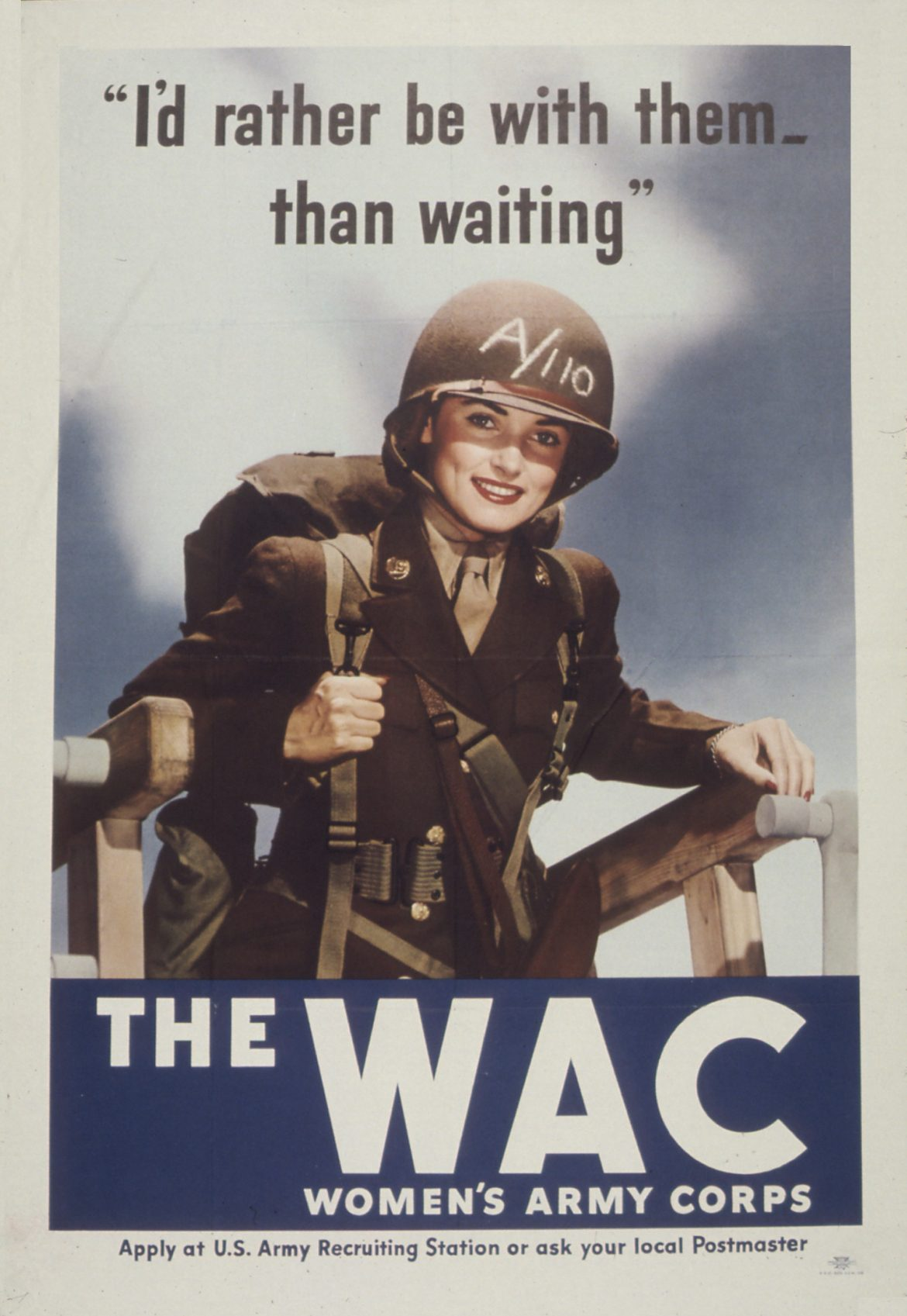 Rather Be With Them WAC Recruiting Poster