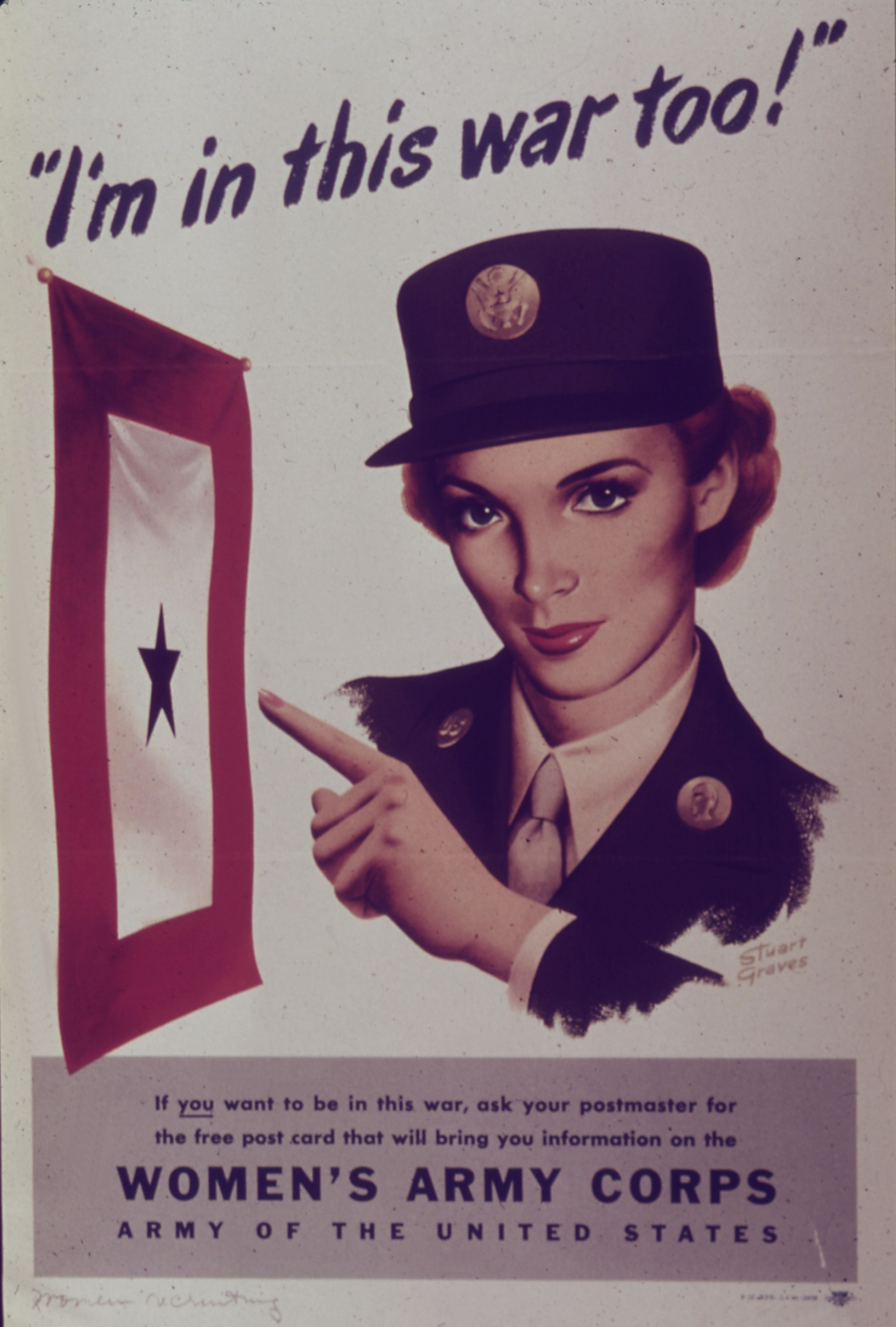 I'm in This War Too WAC Recruiting Poster