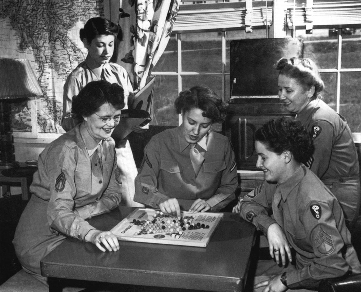 Chinese checkers at WAC dormitory