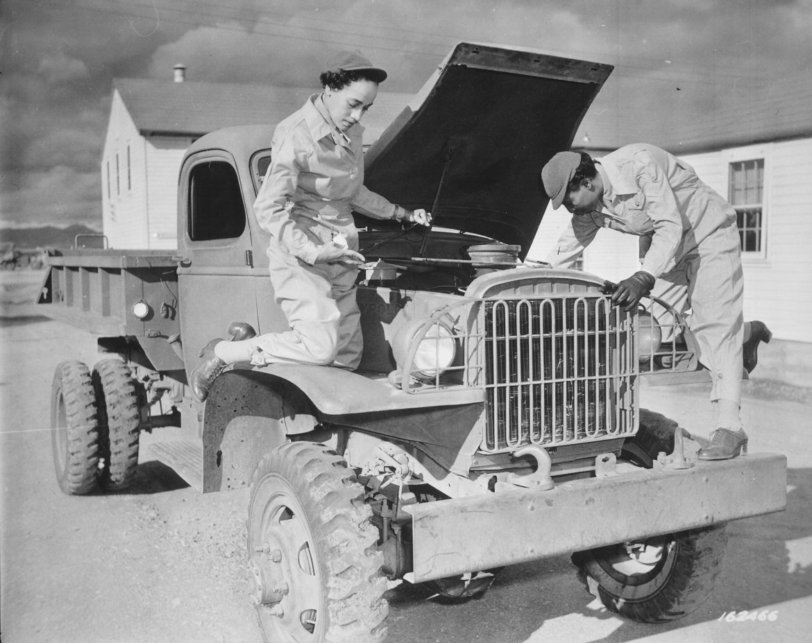WAACs Servicing a Truck at Fort Huachuca, Arizona