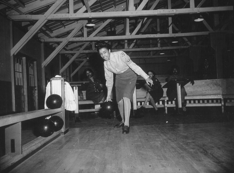 WACs at Fort McClellan Bowling Alley