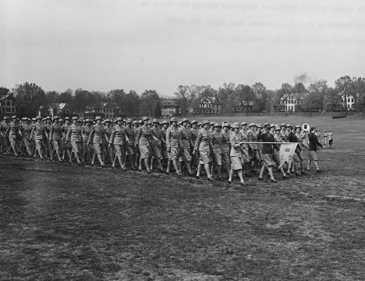 WAAC Company Passing in Review