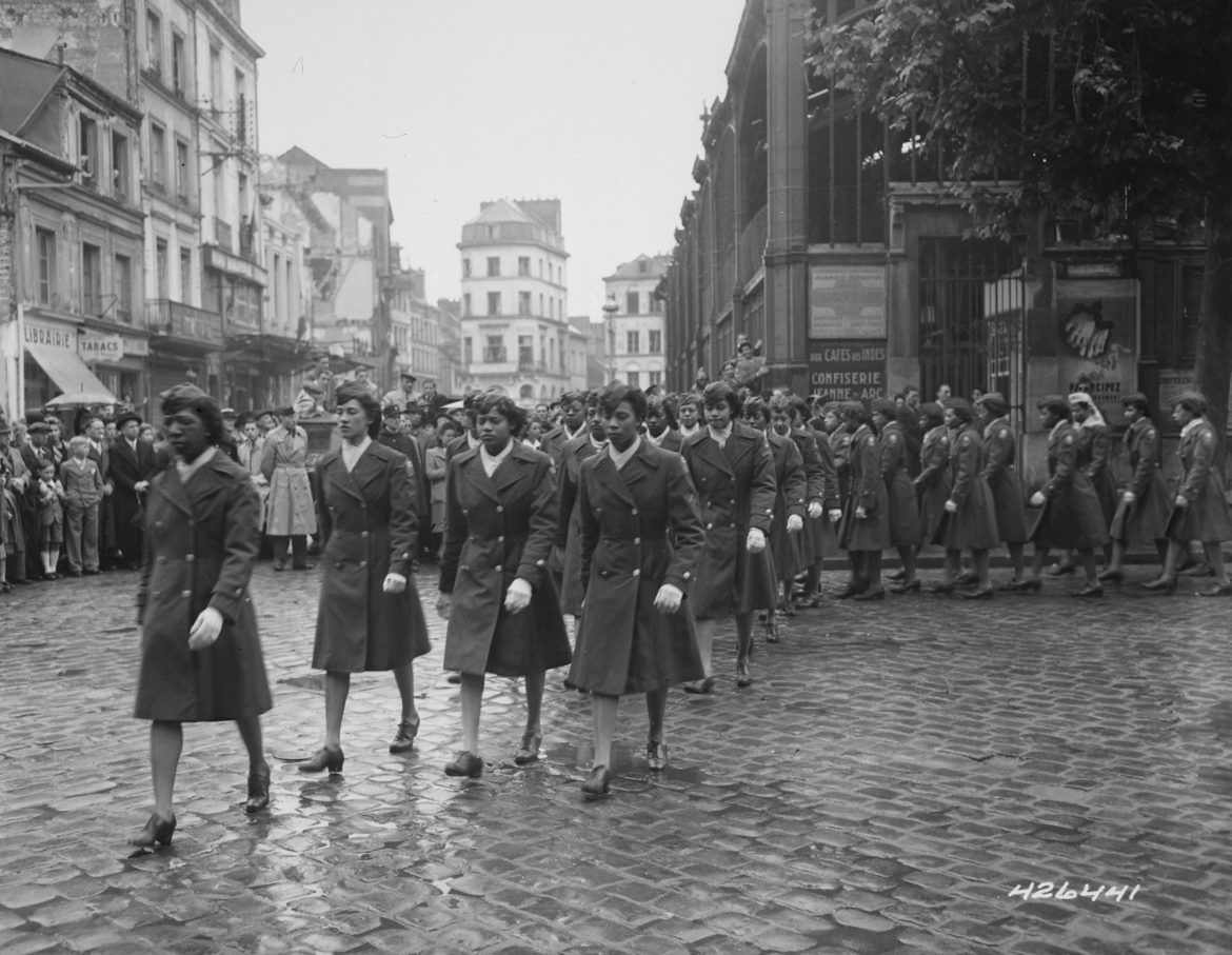 Postal Directory Battalion Marching in Parade