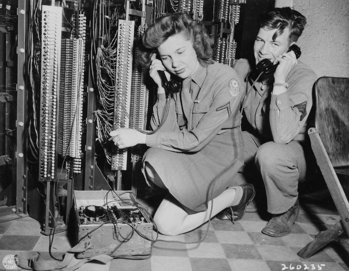 WAC Switchboard Operator Tests Lines