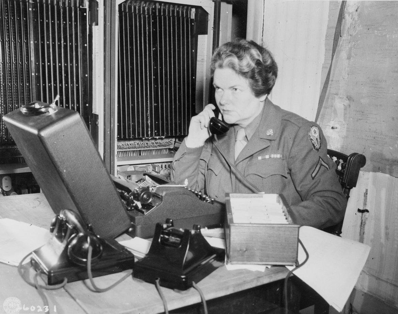 WAC Telephone Operator at Potsdam Conference