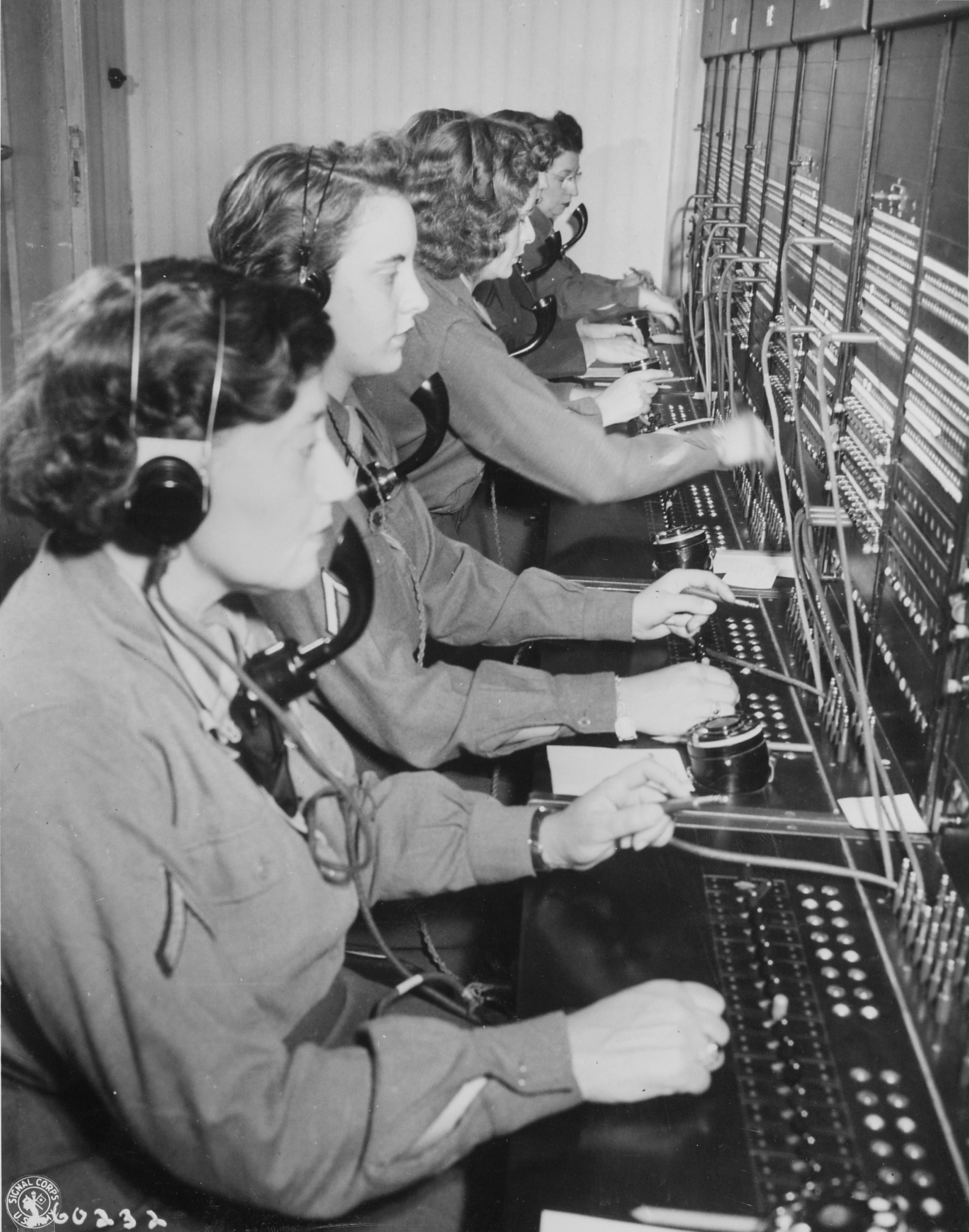 WAC Telephone Operators at Victory Switchboard
