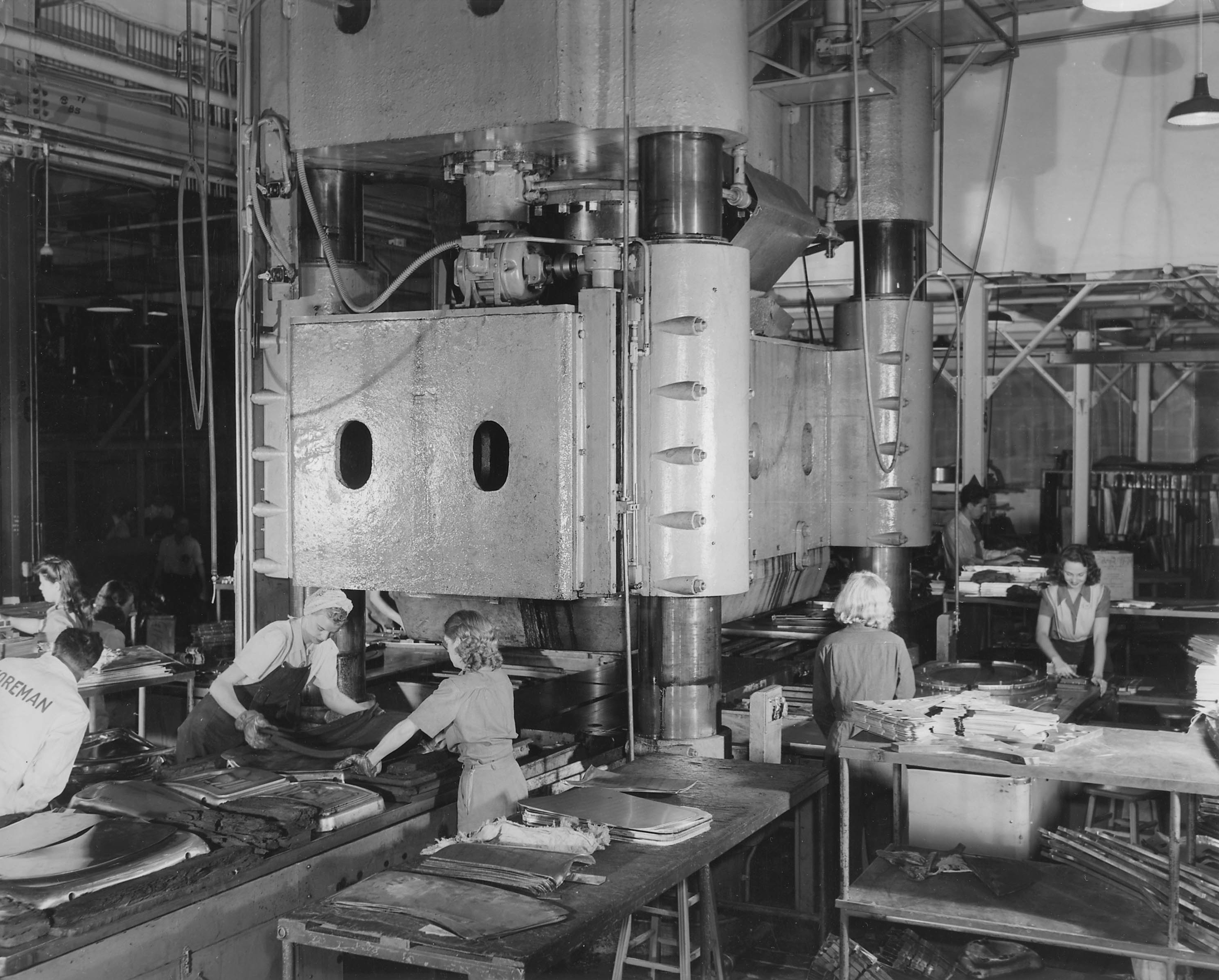 Women Operate Machinery at North American Aviation