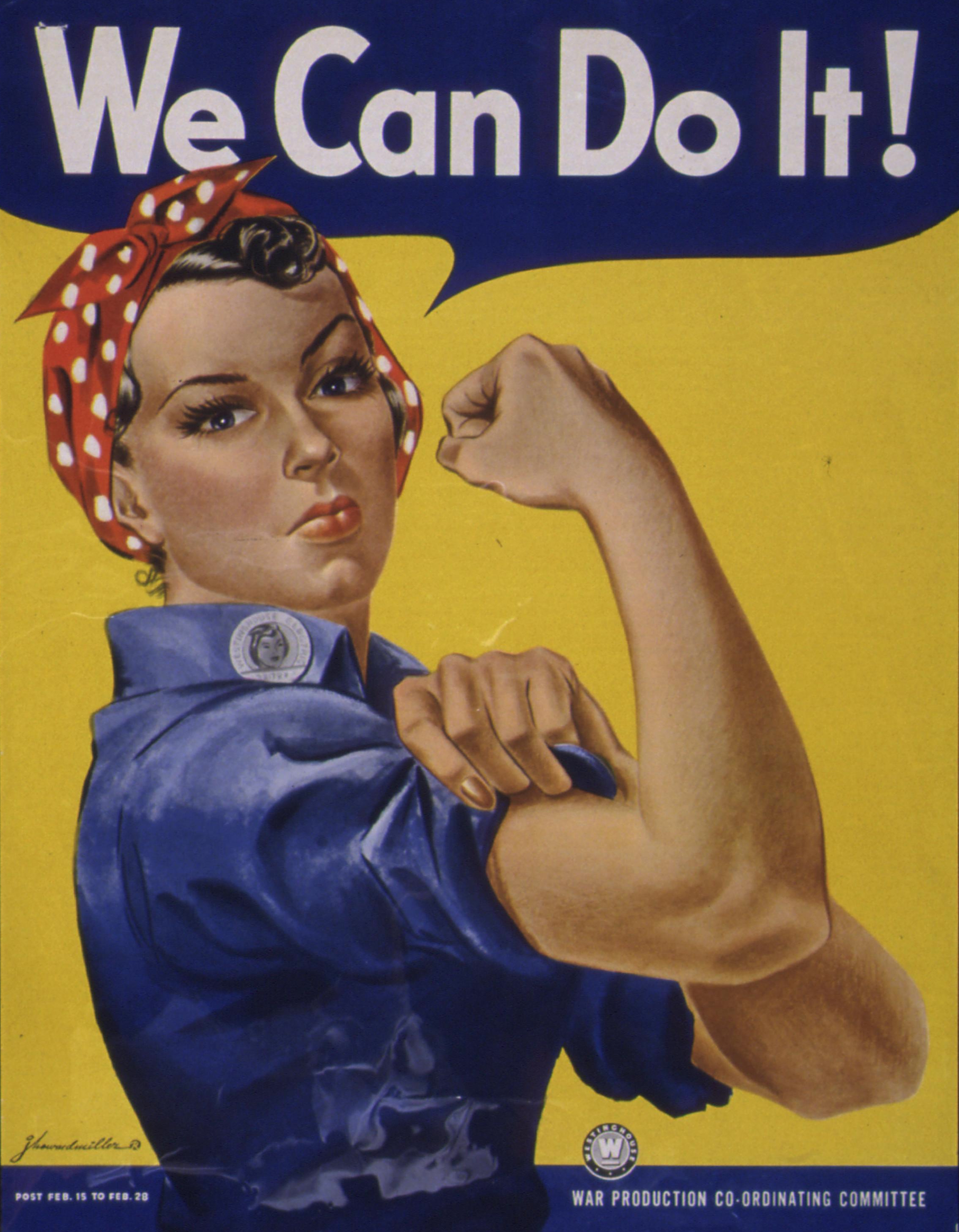 "Rosie the Riveter ""We Can Do It"" Poster"