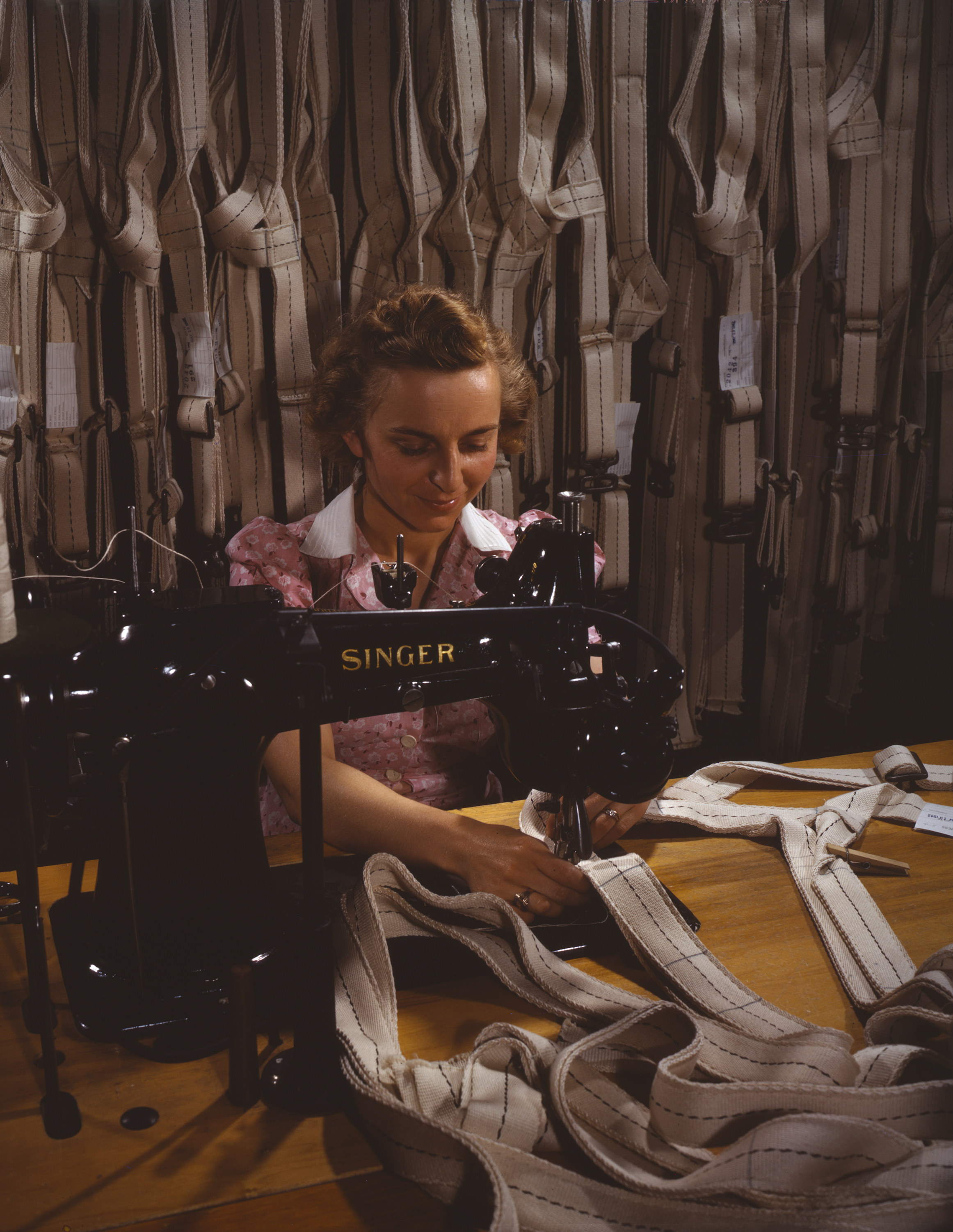 Sewing Harnesses for Military Parachutes in WWII