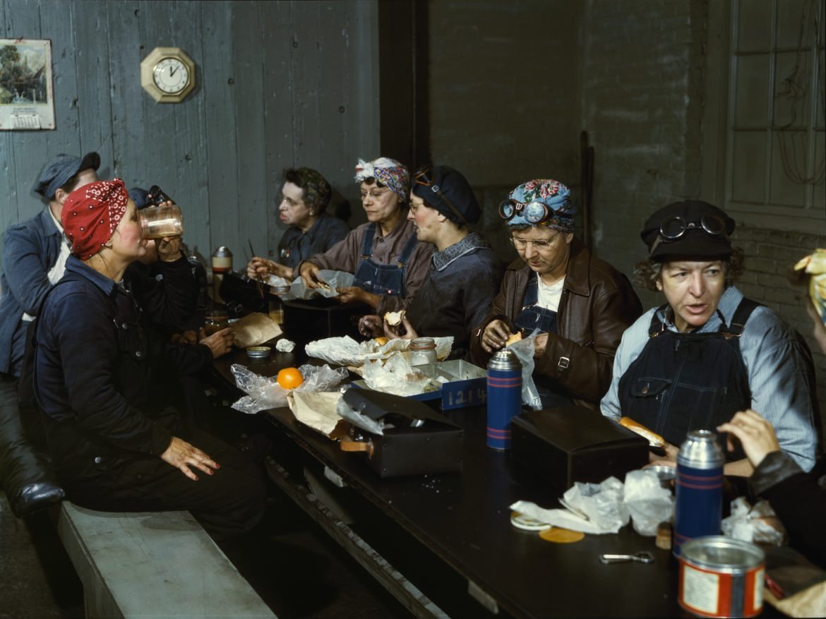 Women Railroad Workers on Lunch Break