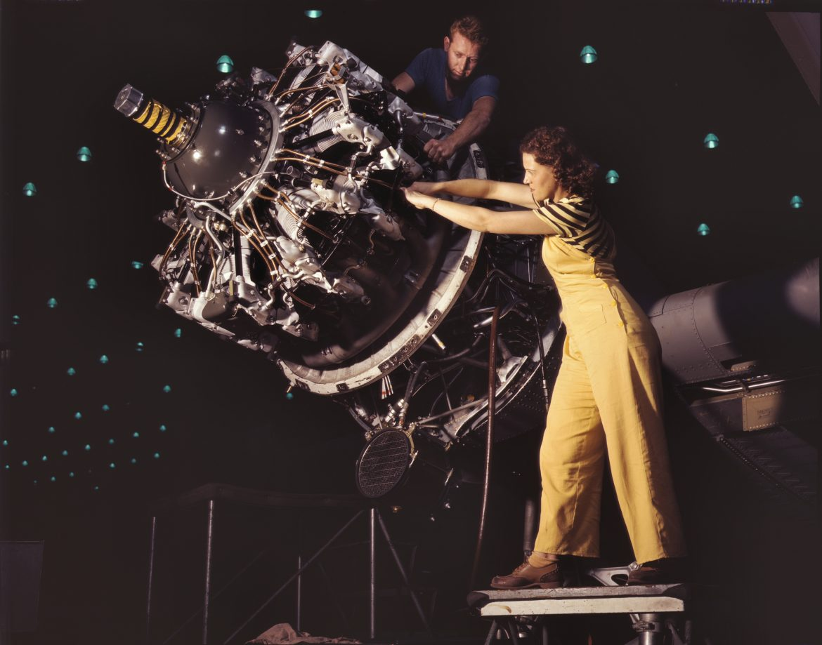 Women Train to do Engine Installation at Douglas Aircraft
