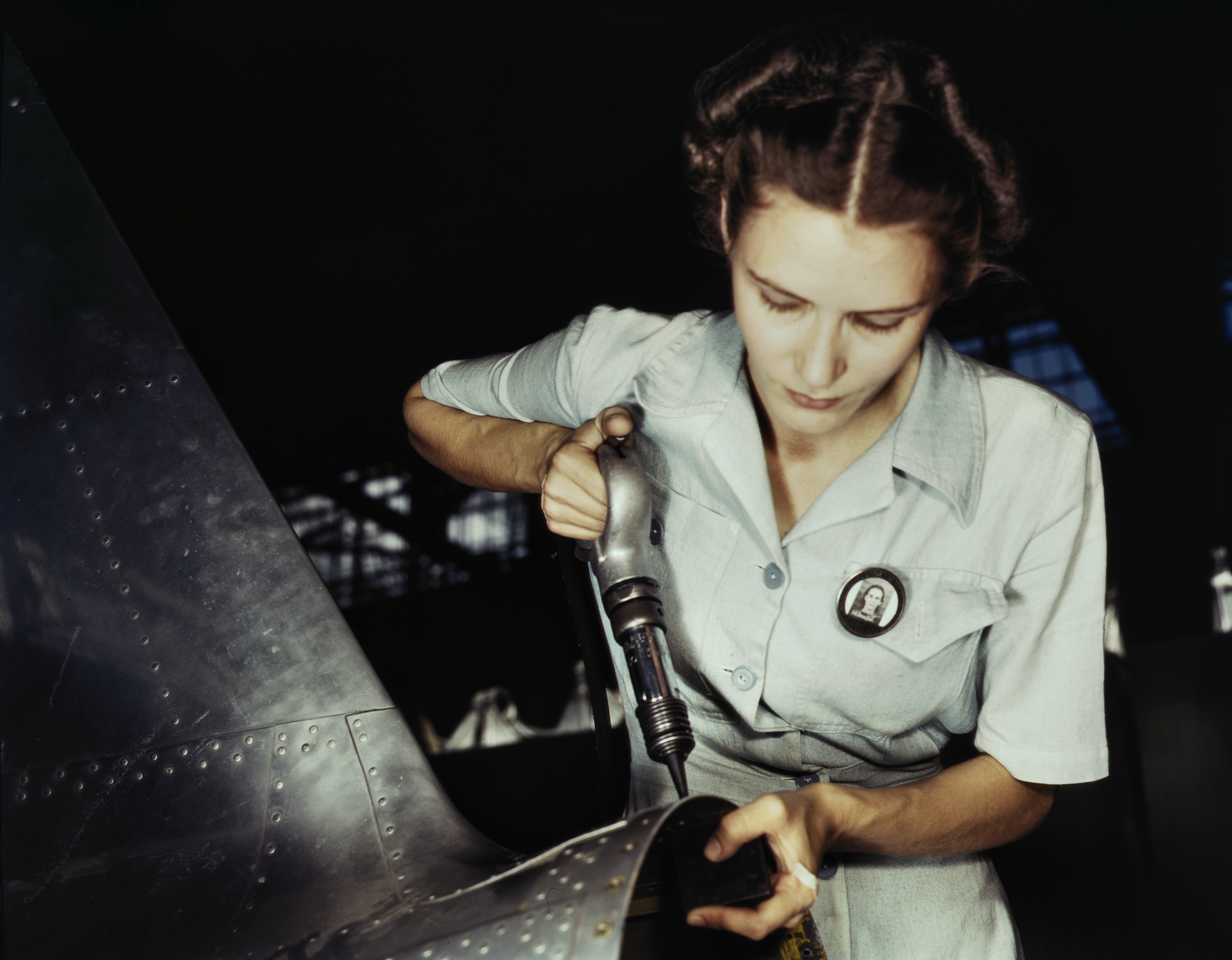 Woman at Work in Assembly and Repair Department