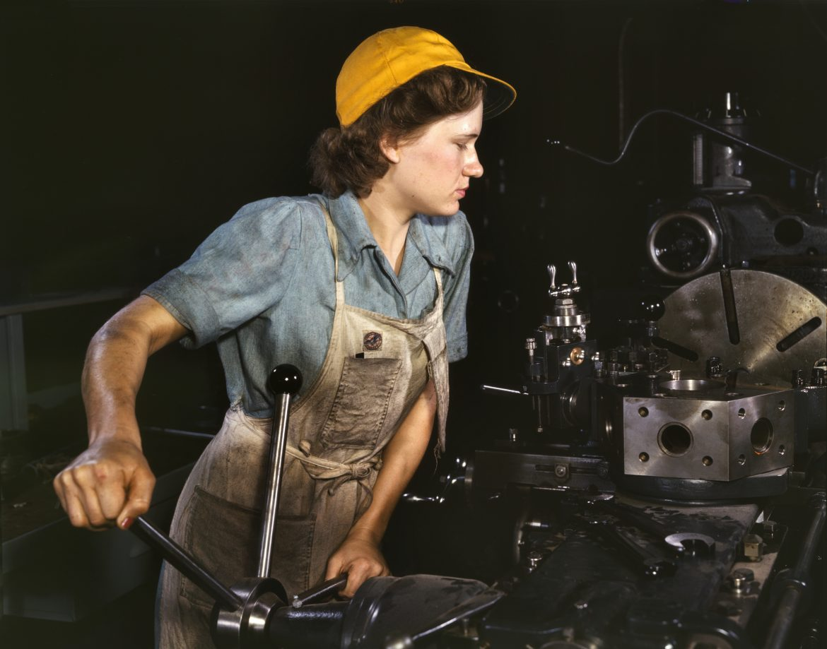 Lathe Operator at Consolidated Aircraft Corporation Plant