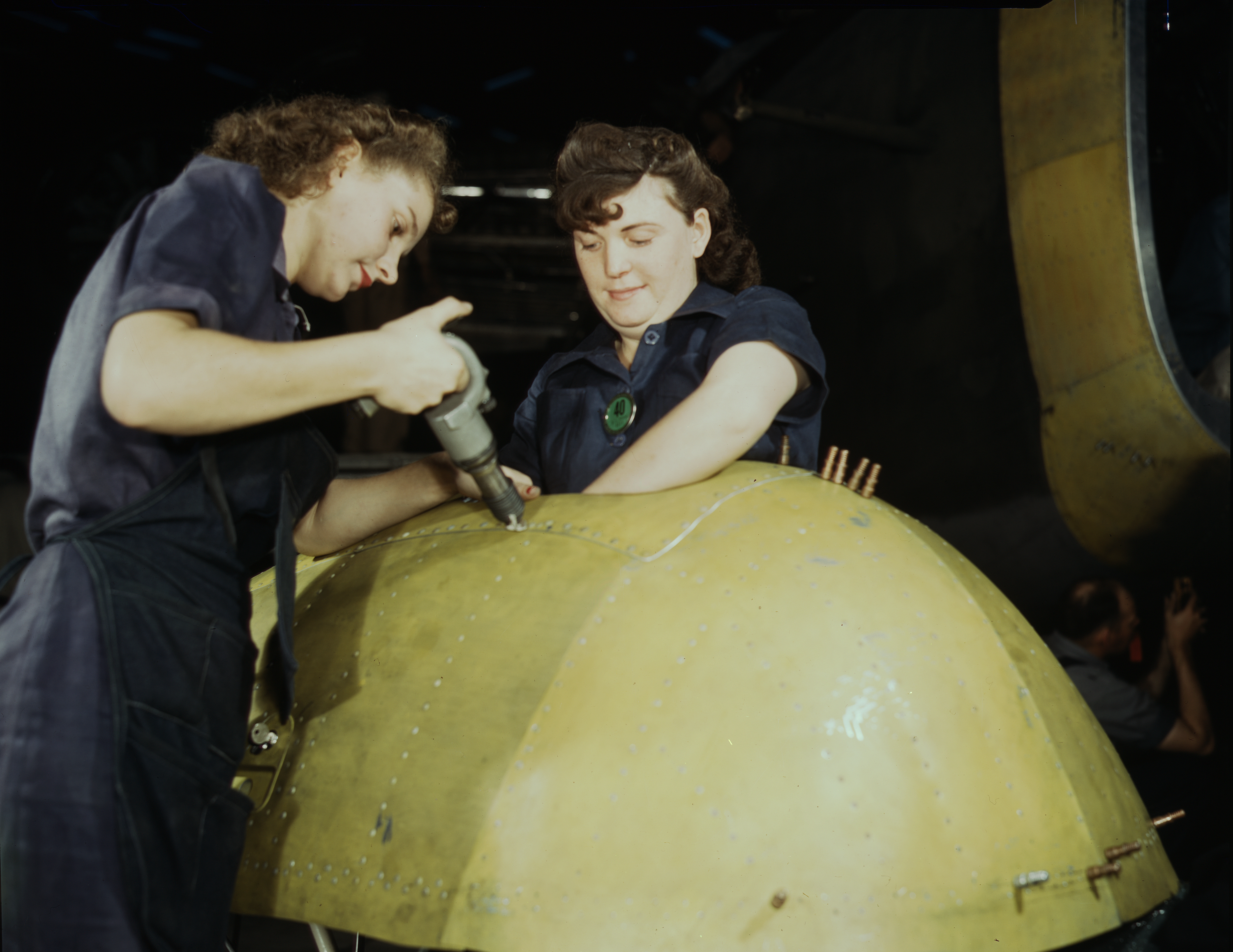 Women Working on a Vengeance Dive Bomber