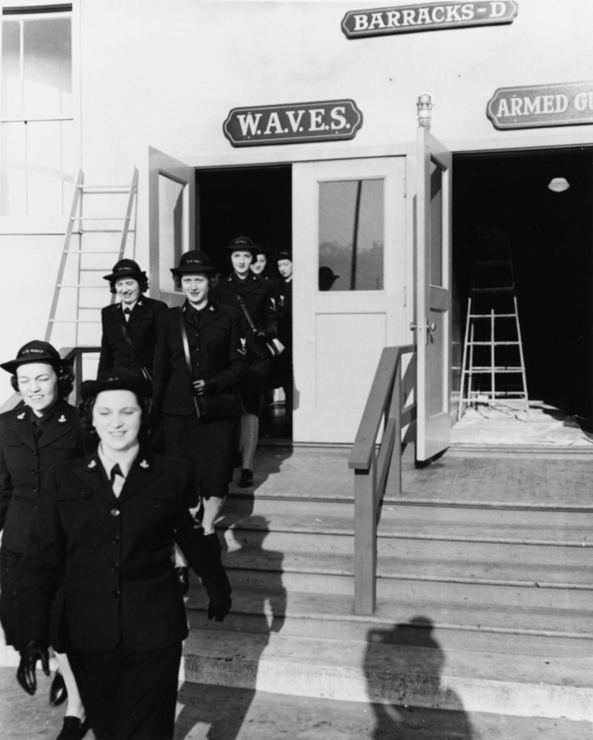 WAVES Leaving Barracks at NAAF Treasure Island