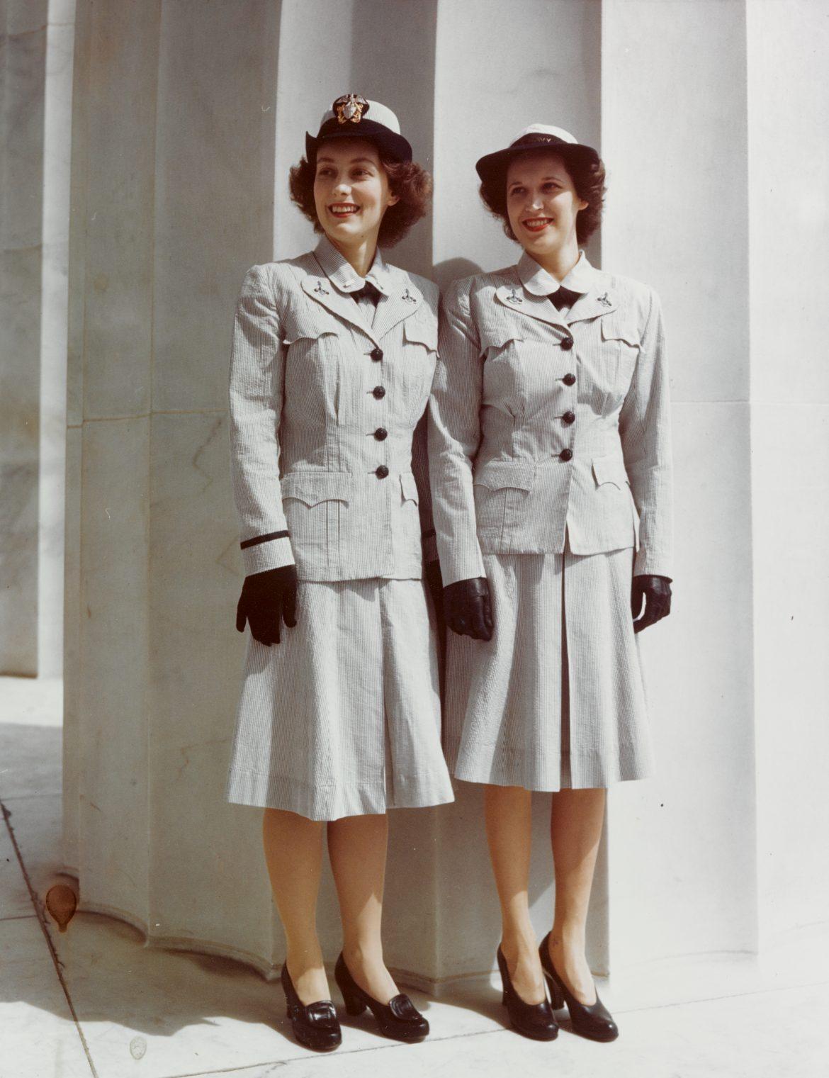 WAVES Model Gray Summer Working Uniforms
