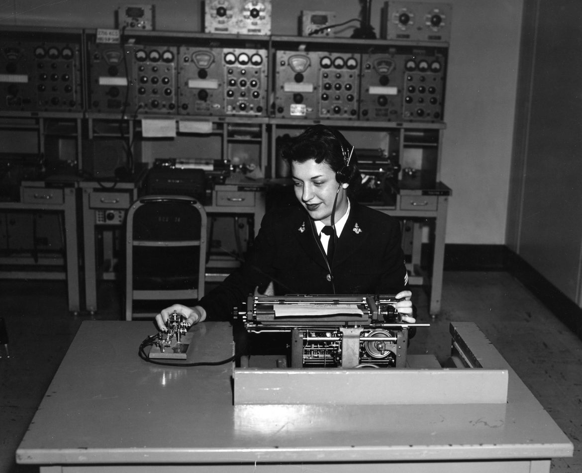 WAVES Yeoman Transcribing With a Dictaphone