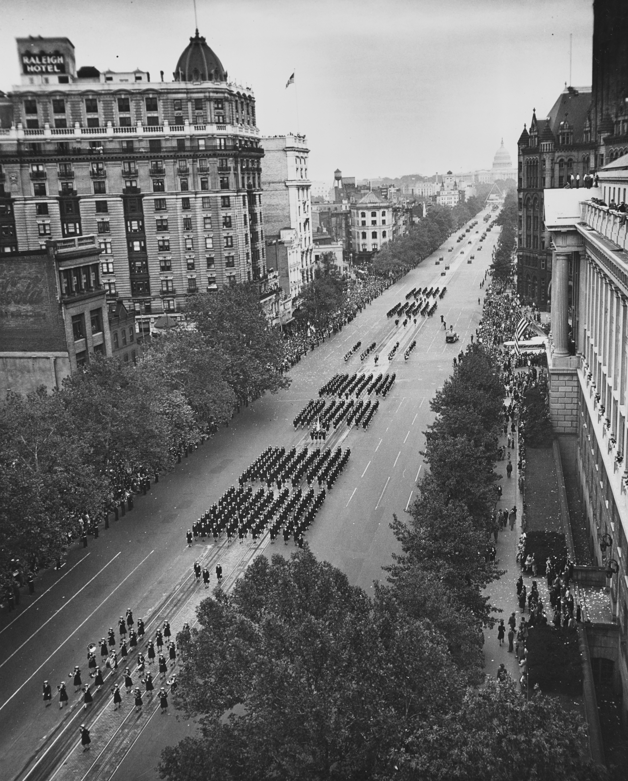 Parade in Honor of Fleet Admiral Nimitz