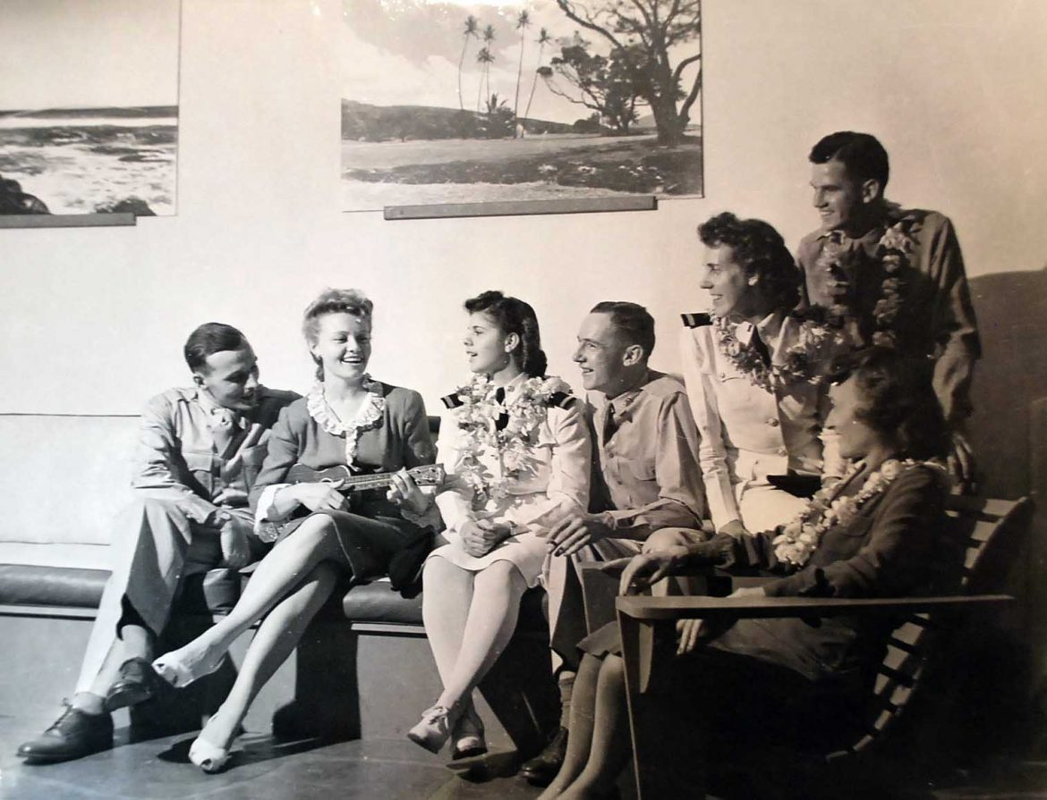 Navy Nurses Relaxing at Officer's Club