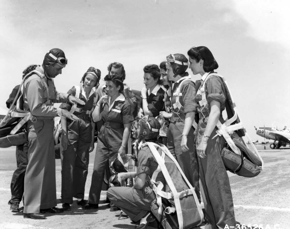 WASP Trainees and Their Instructor Pilot
