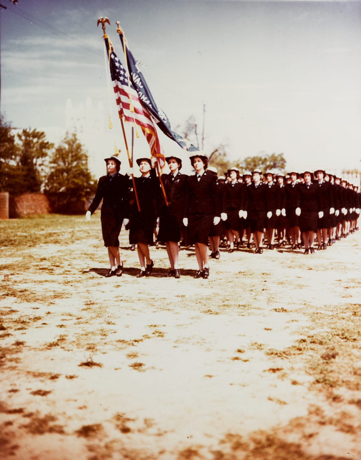 WAVES Students on Parade at Naval Training School