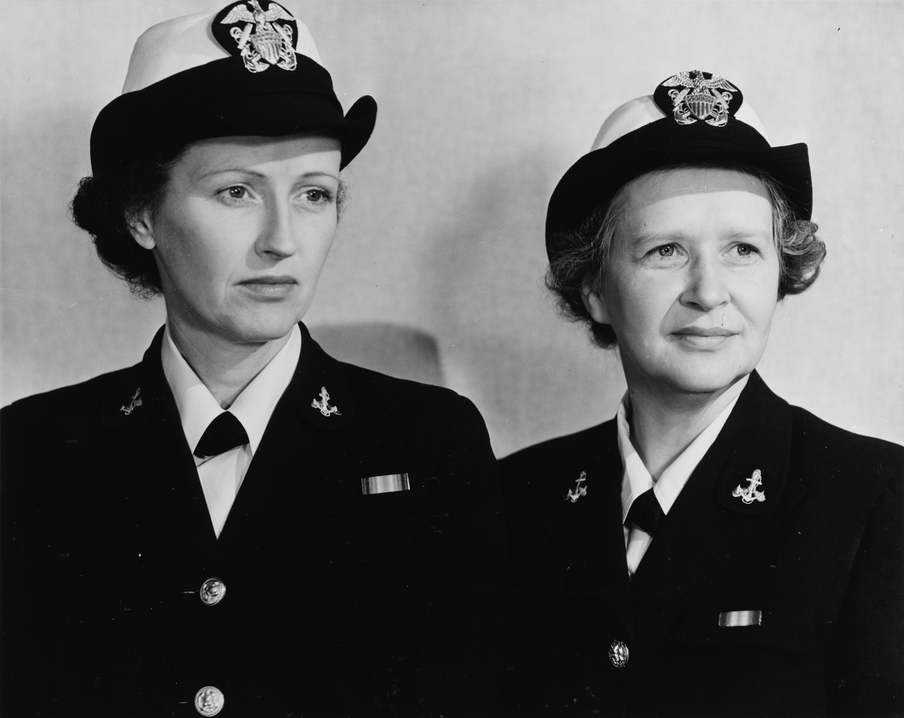 LCDR Joy Bright Hancock and LT Eunice Whyte