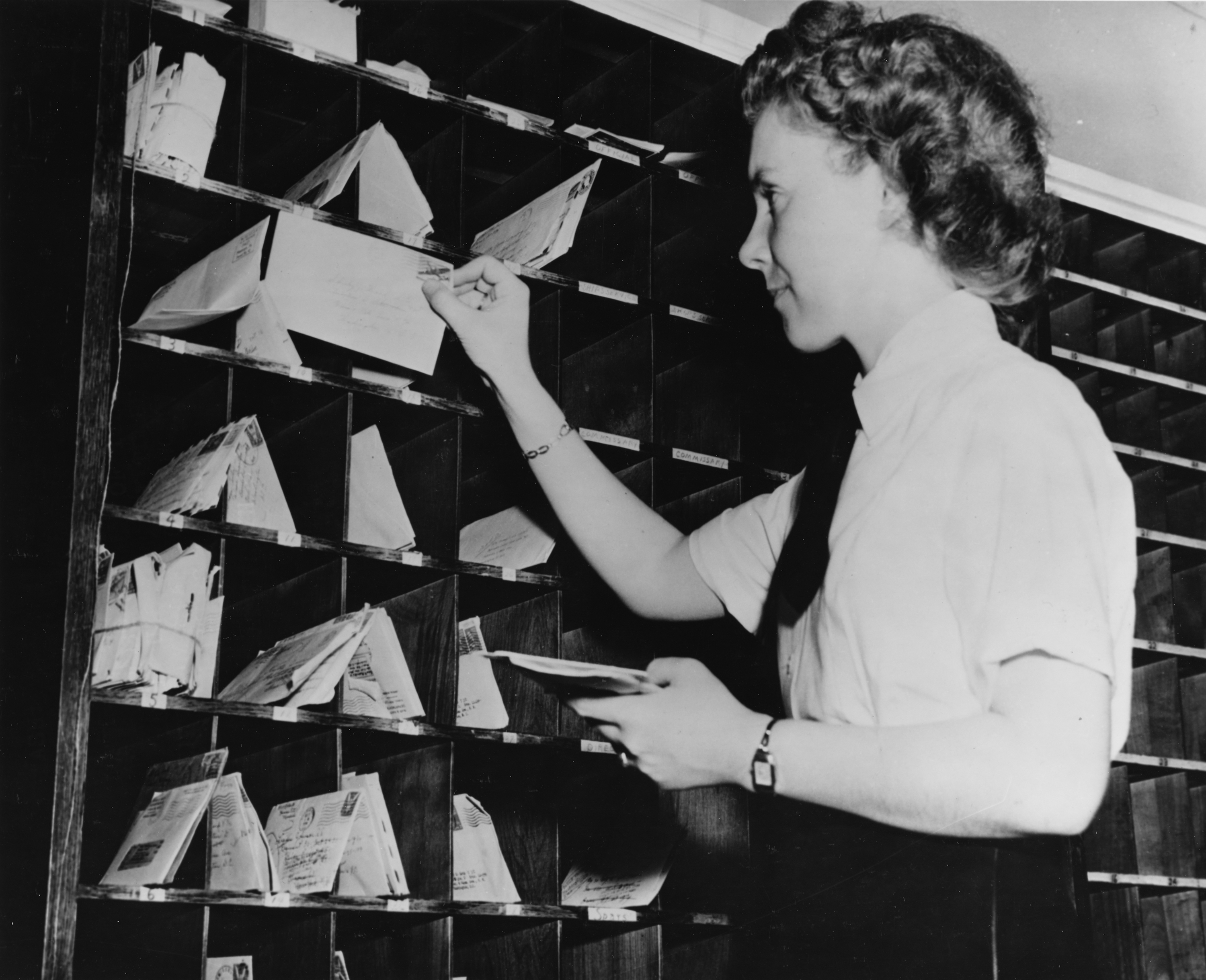 WAVES Postal Worker Distributes Mail