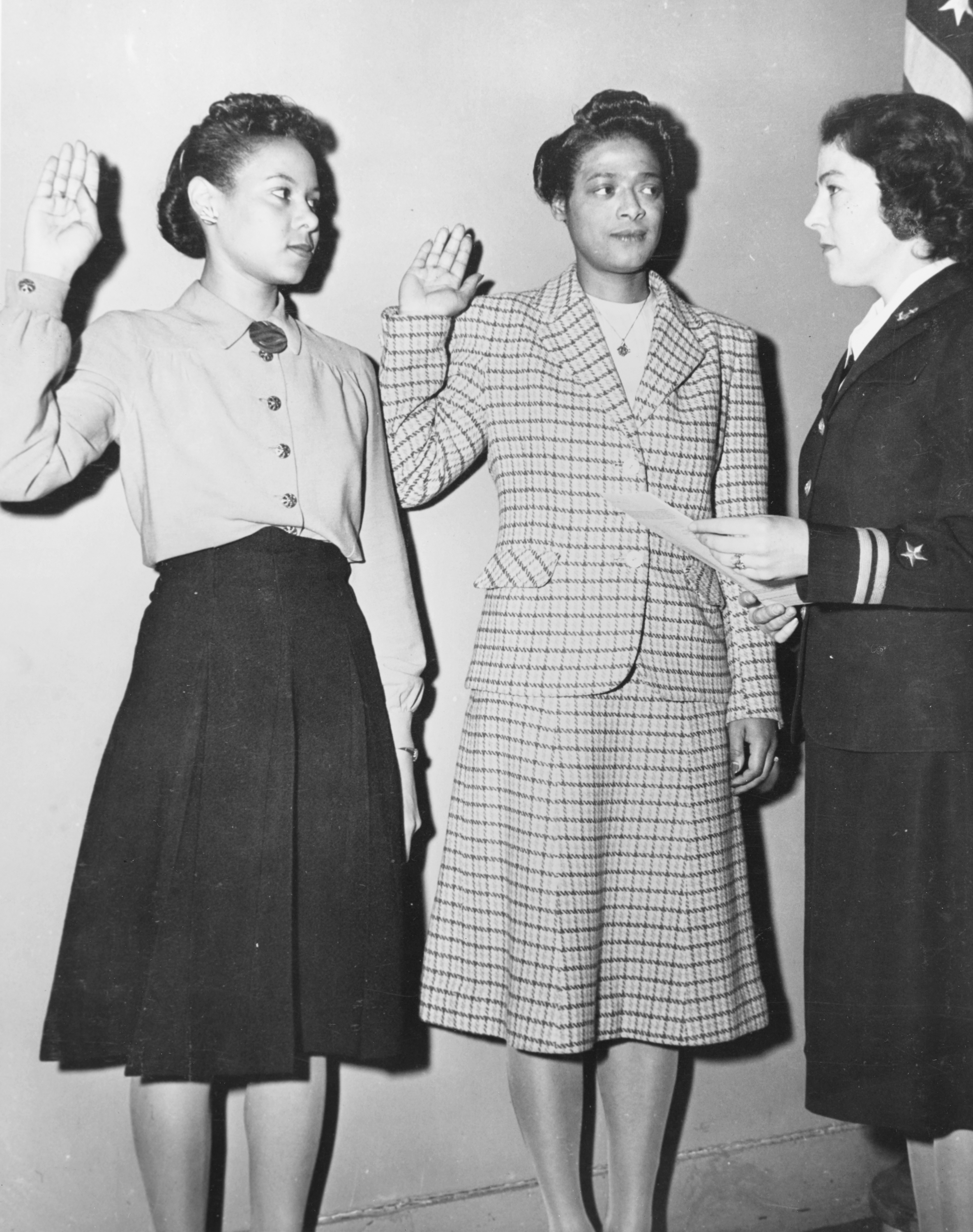 Frances Wills and Harriet Ida Pickens are Sworn In