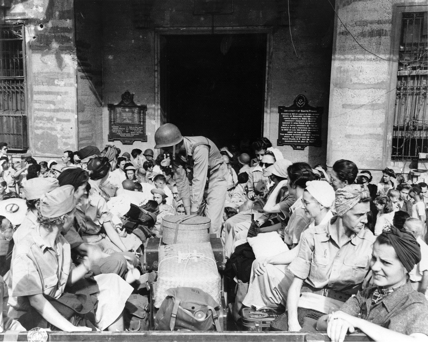 Freed Army Nurses Leaving Manila in 1945