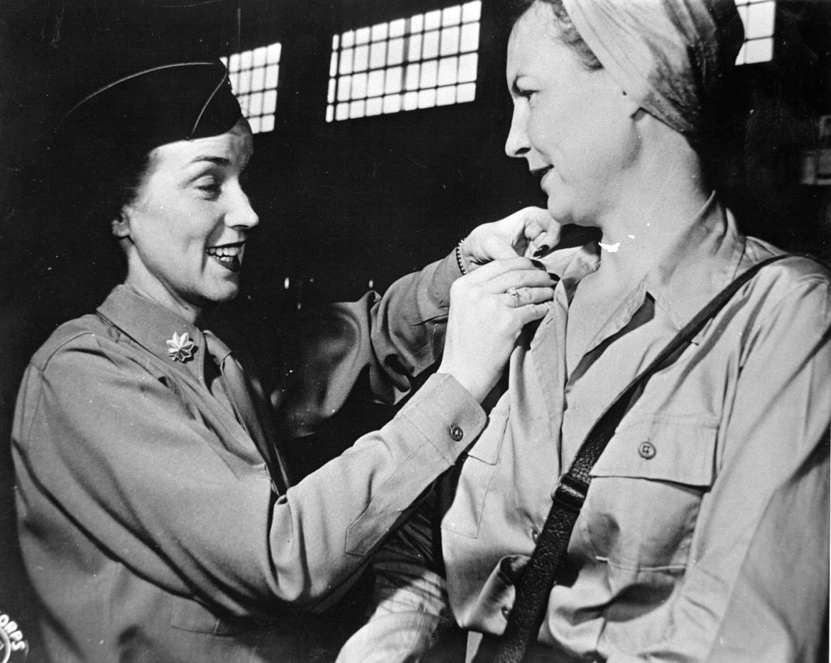 Army Nurse Rosemary Hogan Gets New Bars