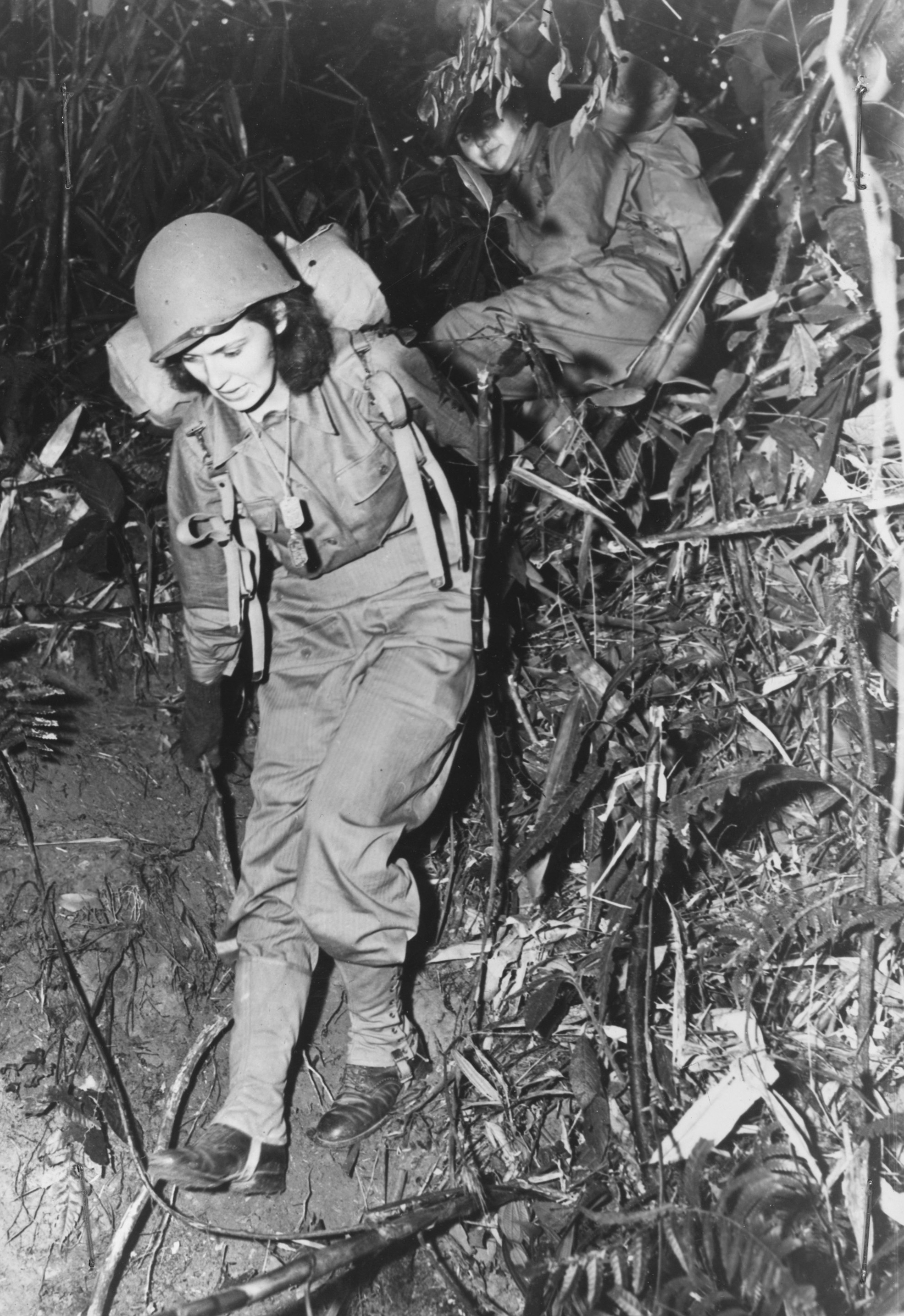 Army Nurses Hiking Through Jungle of India-Burma Border