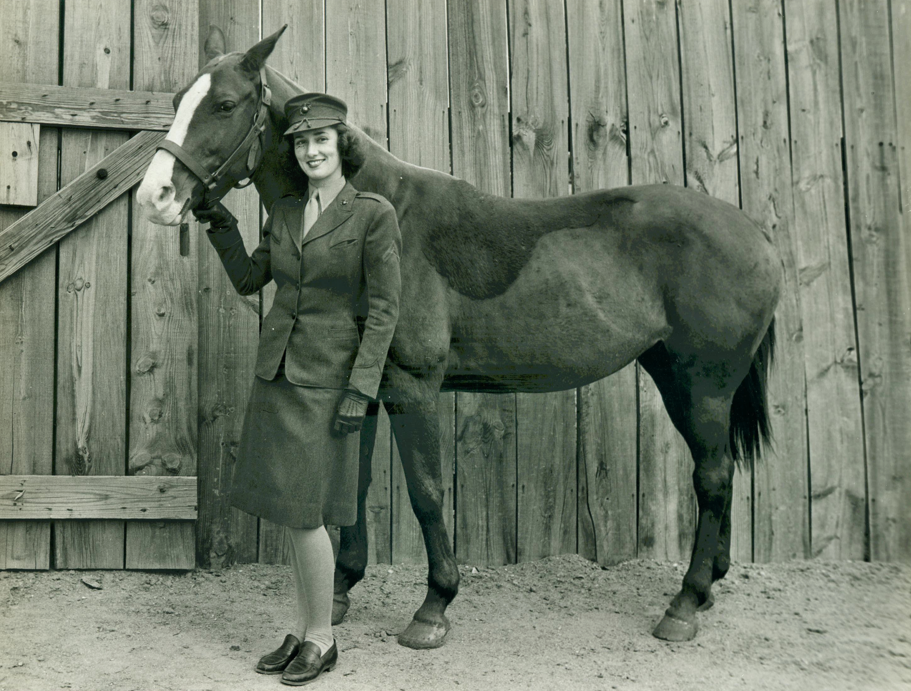 Woman Marine at Quantico Stables