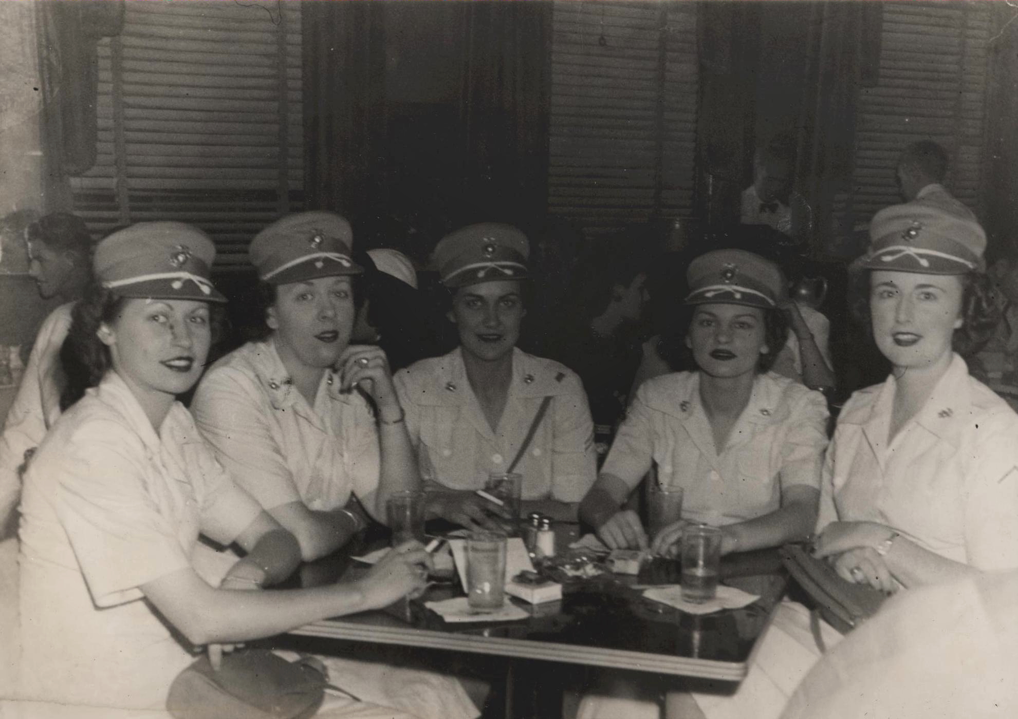 Women Marines Having Cocktails in Washington, DC