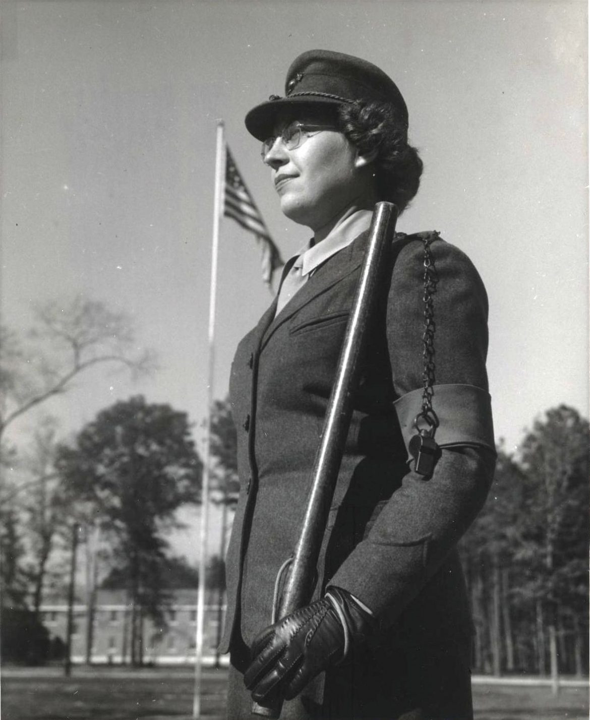 Woman Marine Sentry at Camp Lejeune