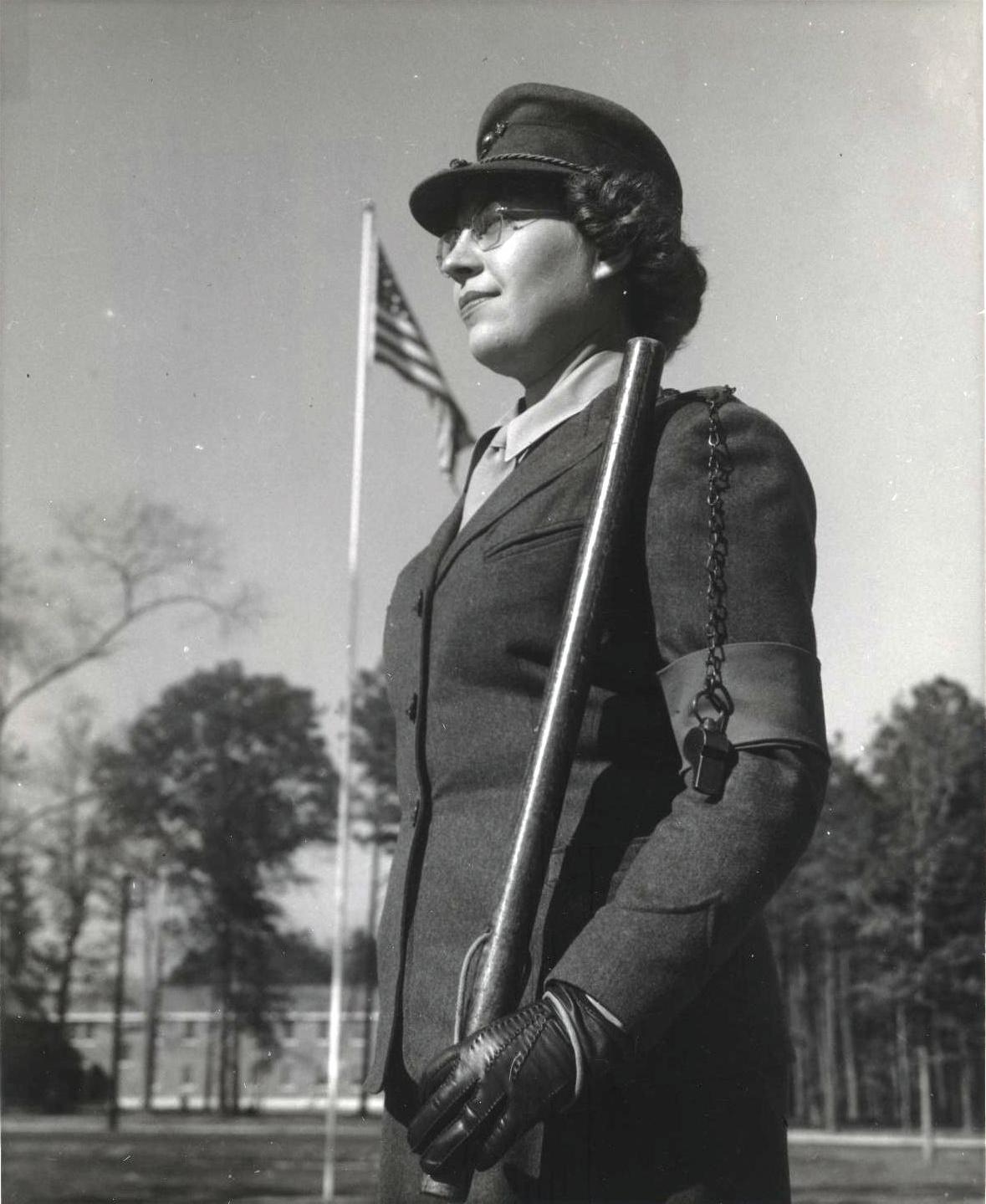 Woman Marine Sentry at Camp Lejeune