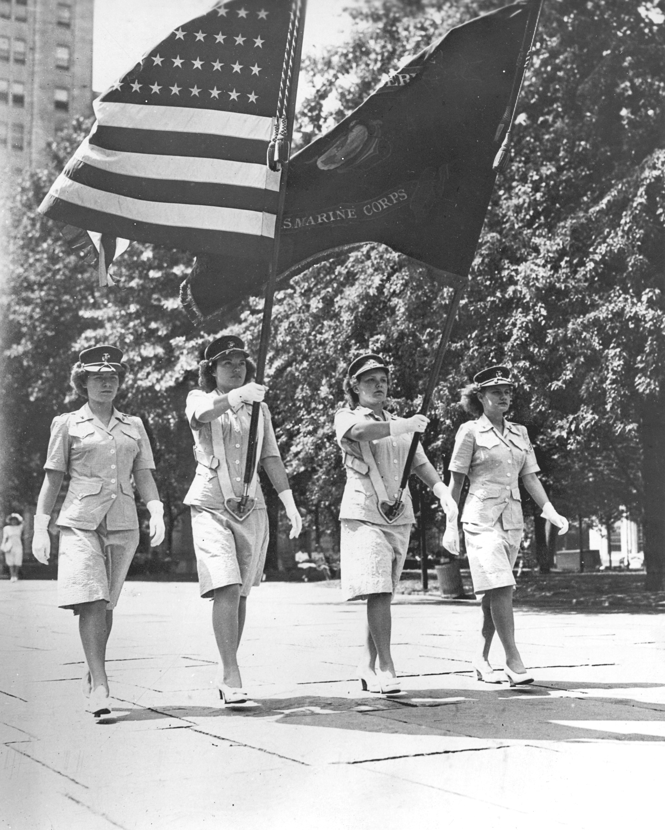 Women Marines Color Guard