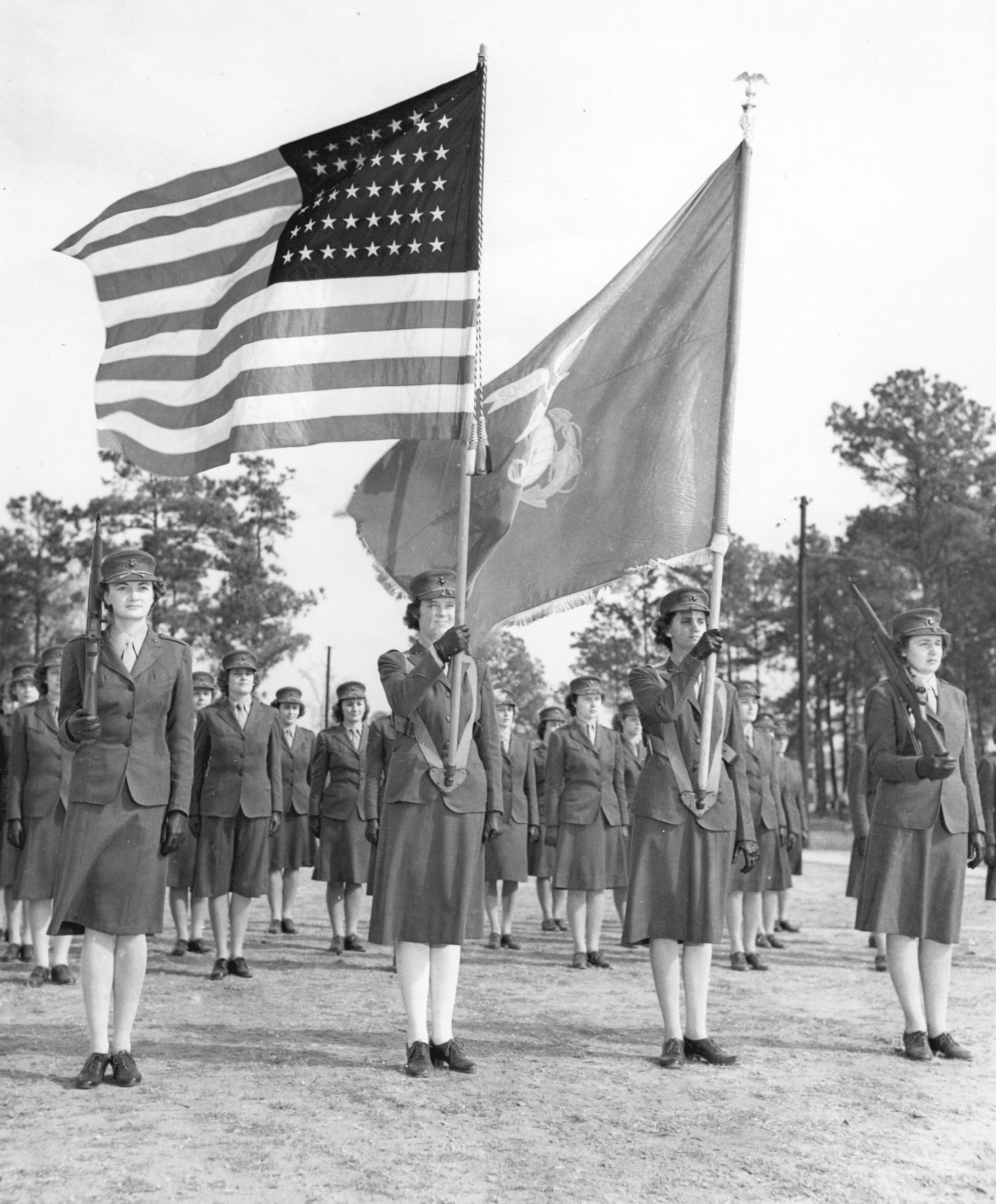 Armed Color Guard of Women Marines