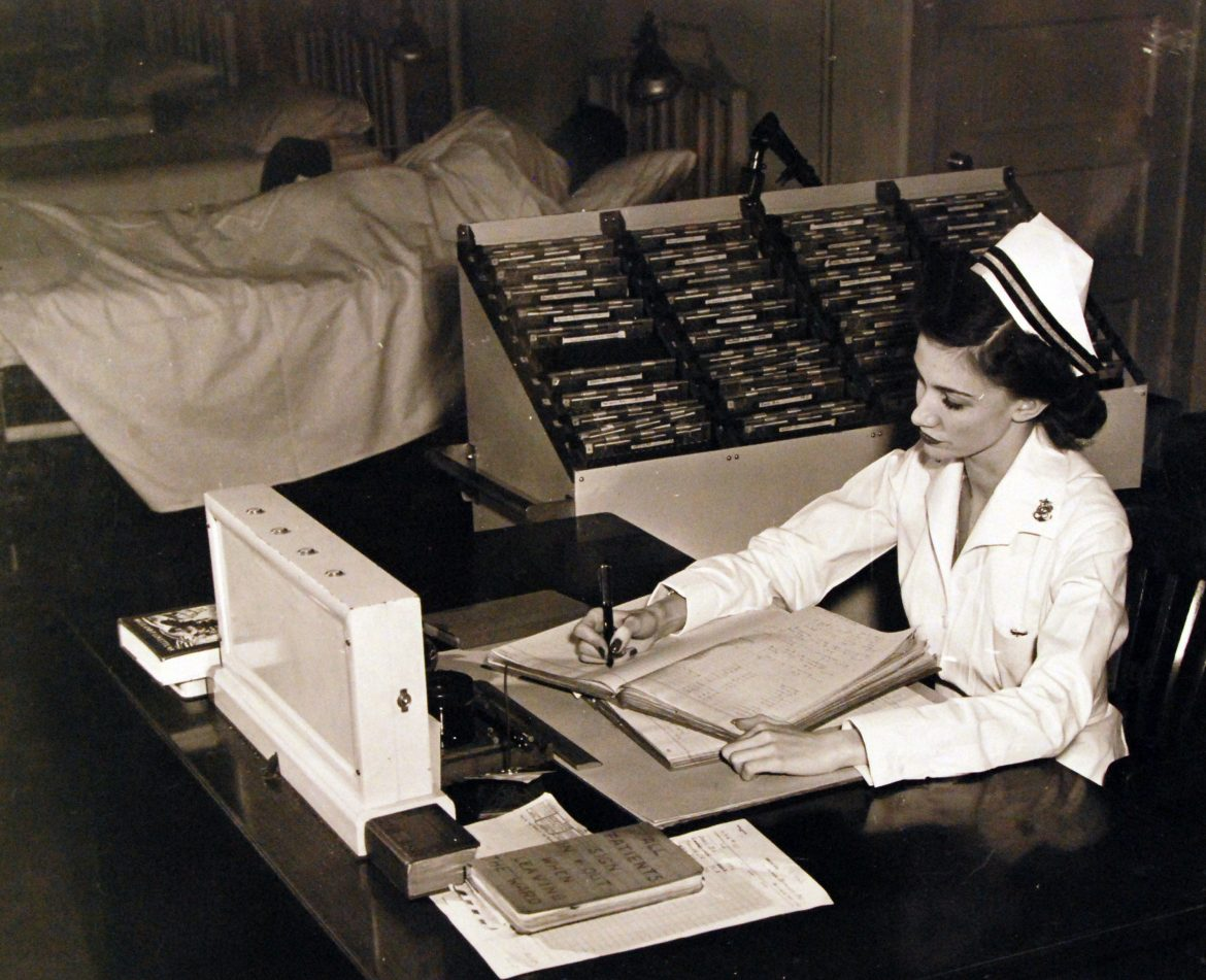 Navy Nurse Keeps the Books in Order