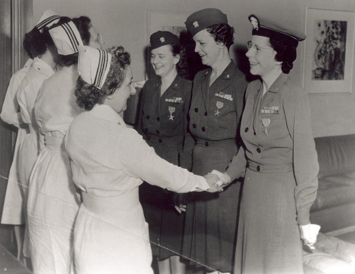 Lieutenant Commander Laura Cobb with Other Nurses