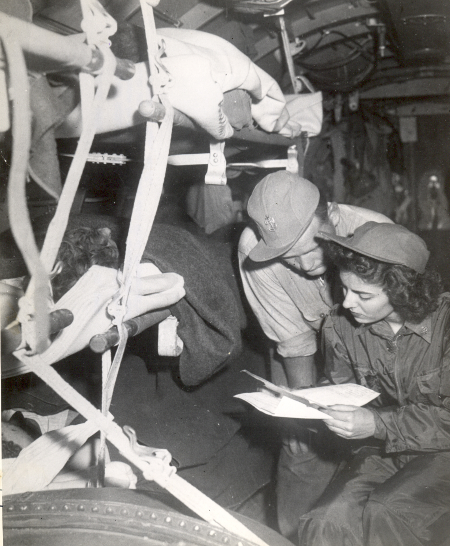 Flight Nurse Jane Kendeigh on Trip from Iwo Jima