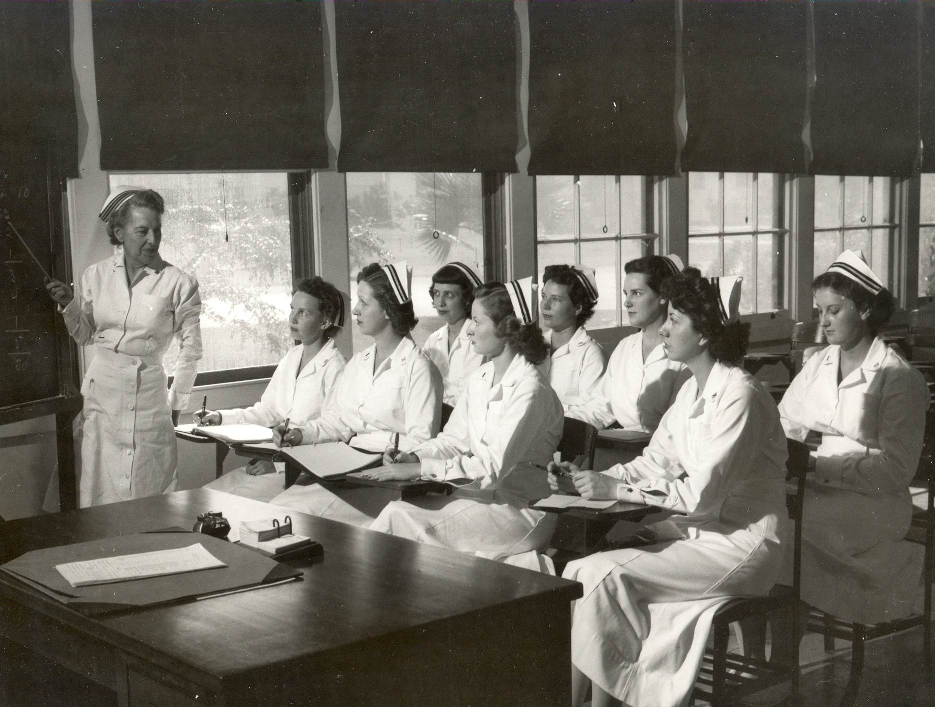 Navy Nurses Undergo Classroom Training