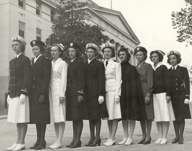 Navy Nurses Modeling Various Uniforms