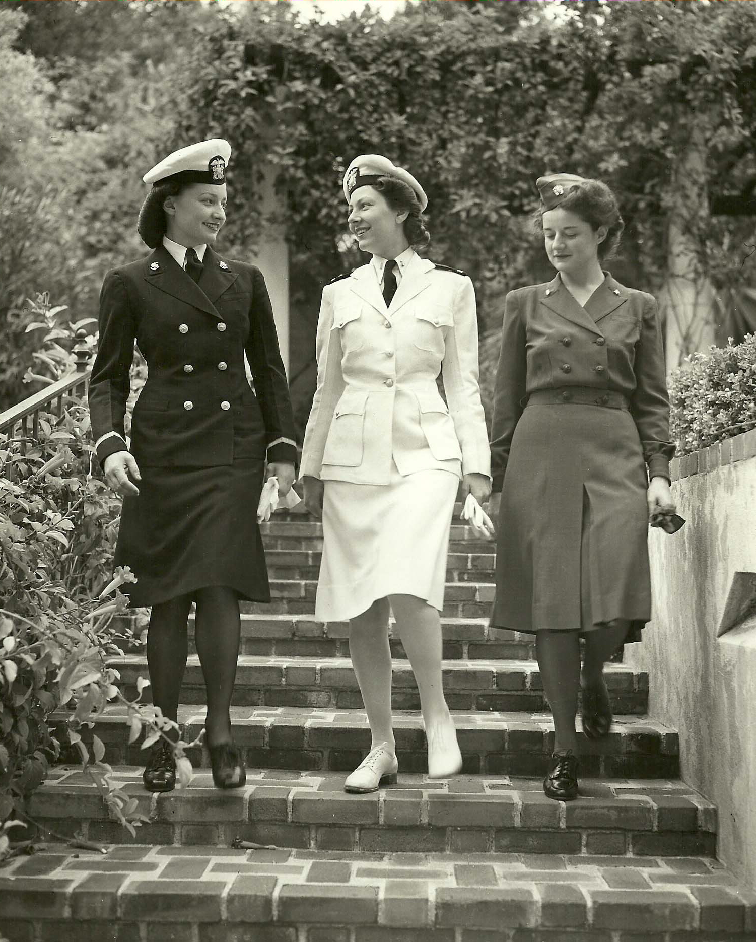 Navy Nurses Modeling Uniforms in San Diego