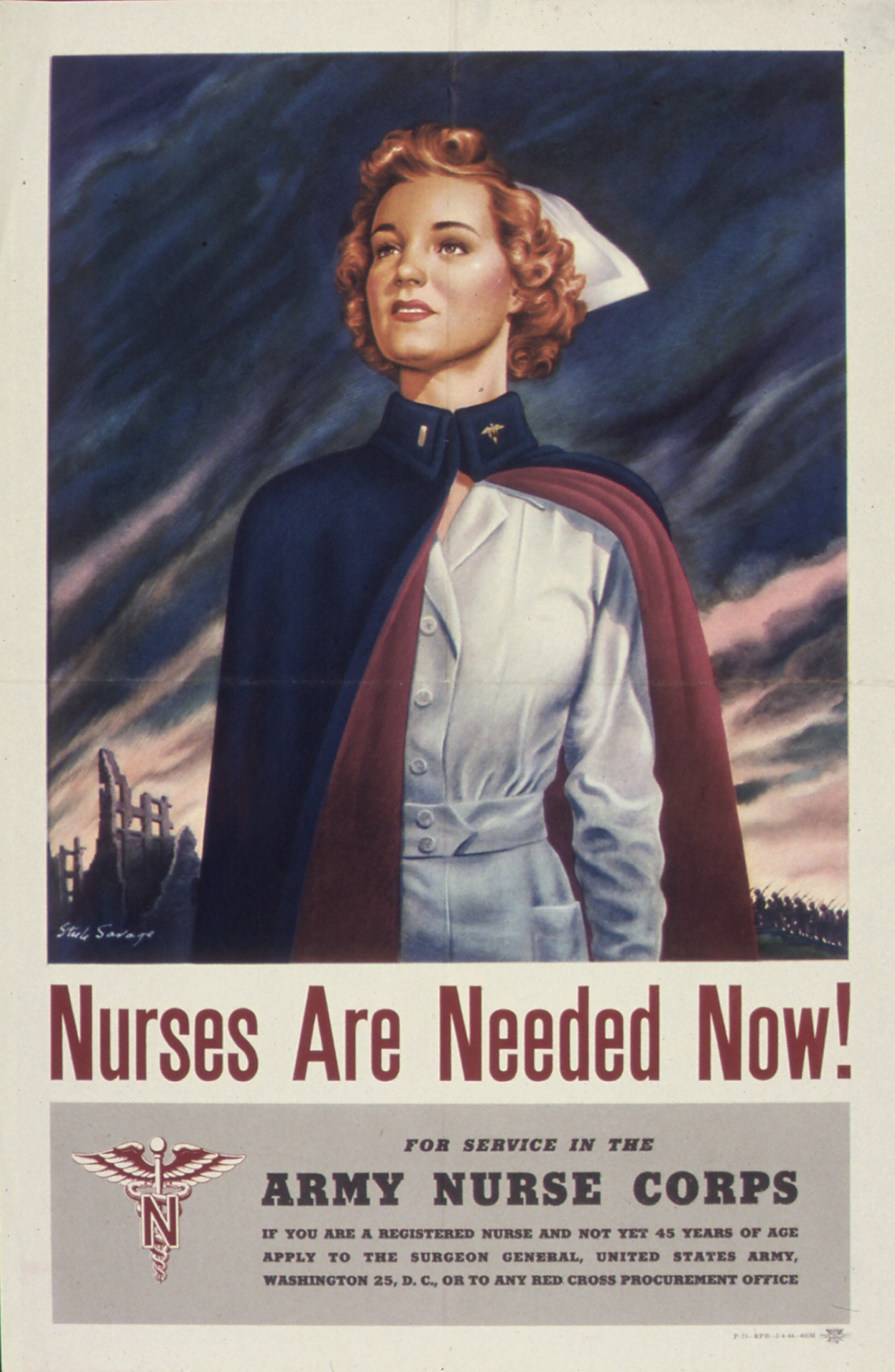 Nurses Are Needed Now! Army Nurse Corps Recruiting Poster